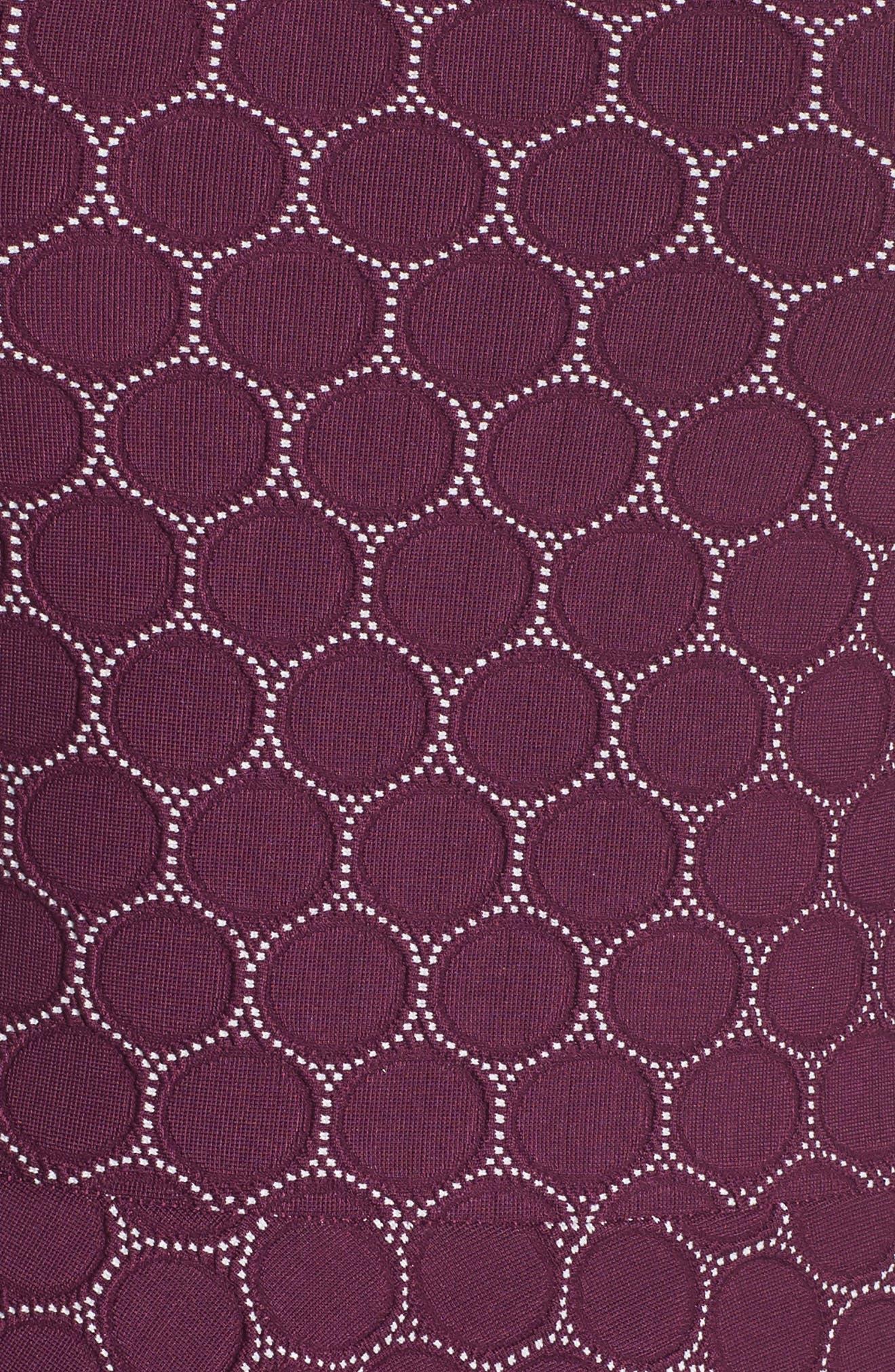 Circle Knit Fit & Flare Dress,                             Alternate thumbnail 5, color,                             Purple