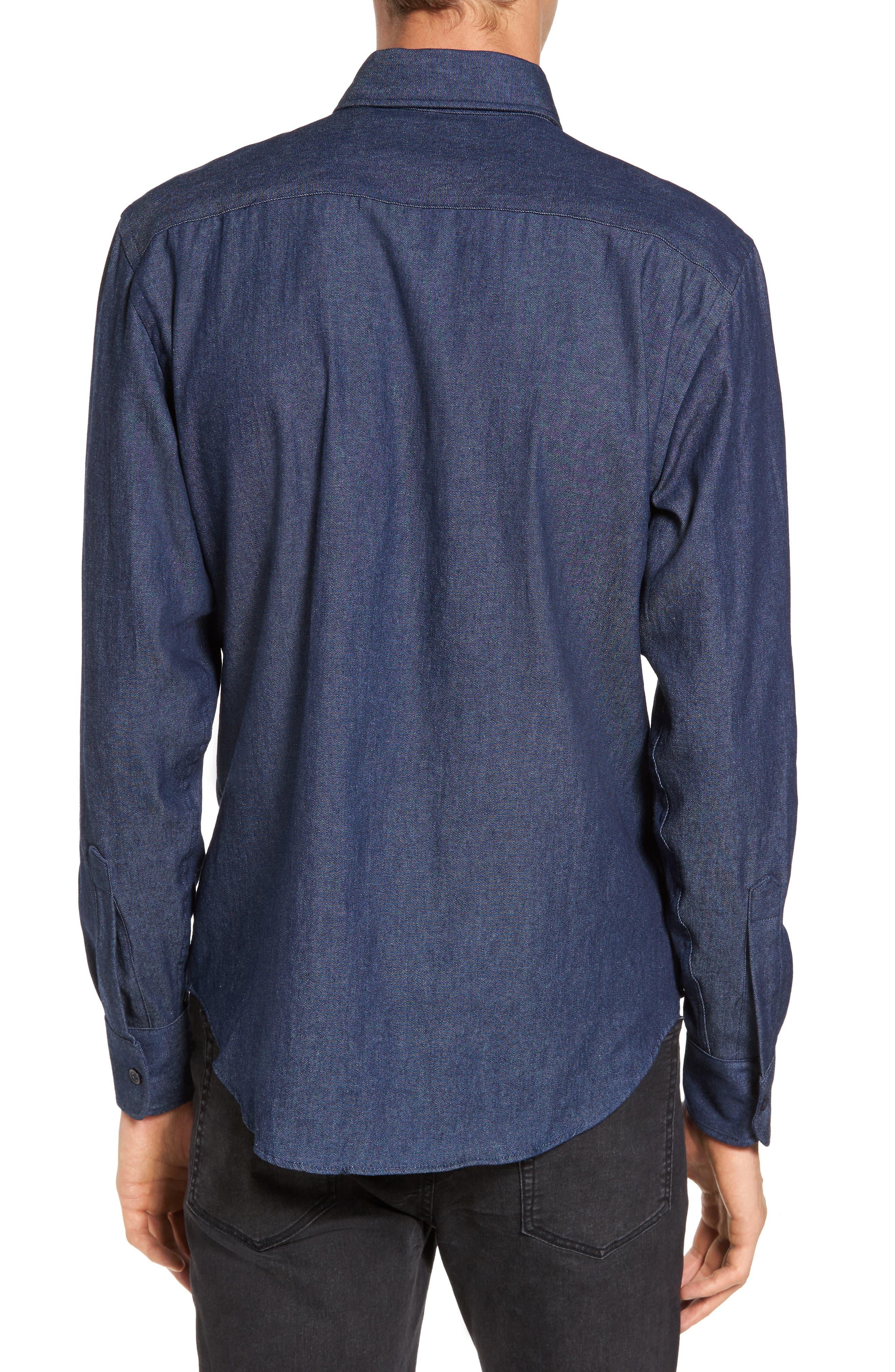 Indigo Long Sleeve Shirt,                             Alternate thumbnail 2, color,                             Indigo