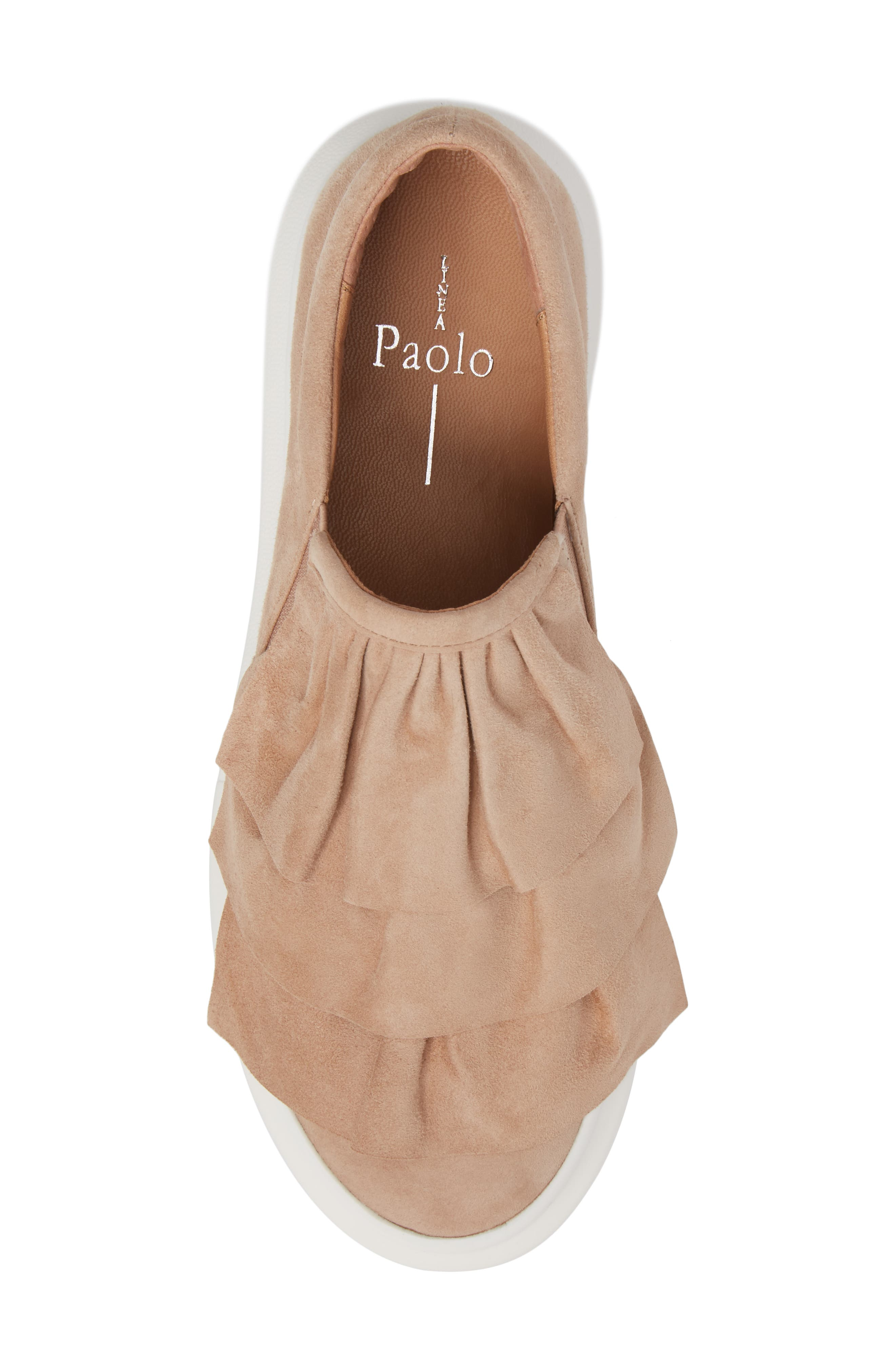 Lolo Ruffle Slip-On,                             Alternate thumbnail 5, color,                             Dusty Rose Suede