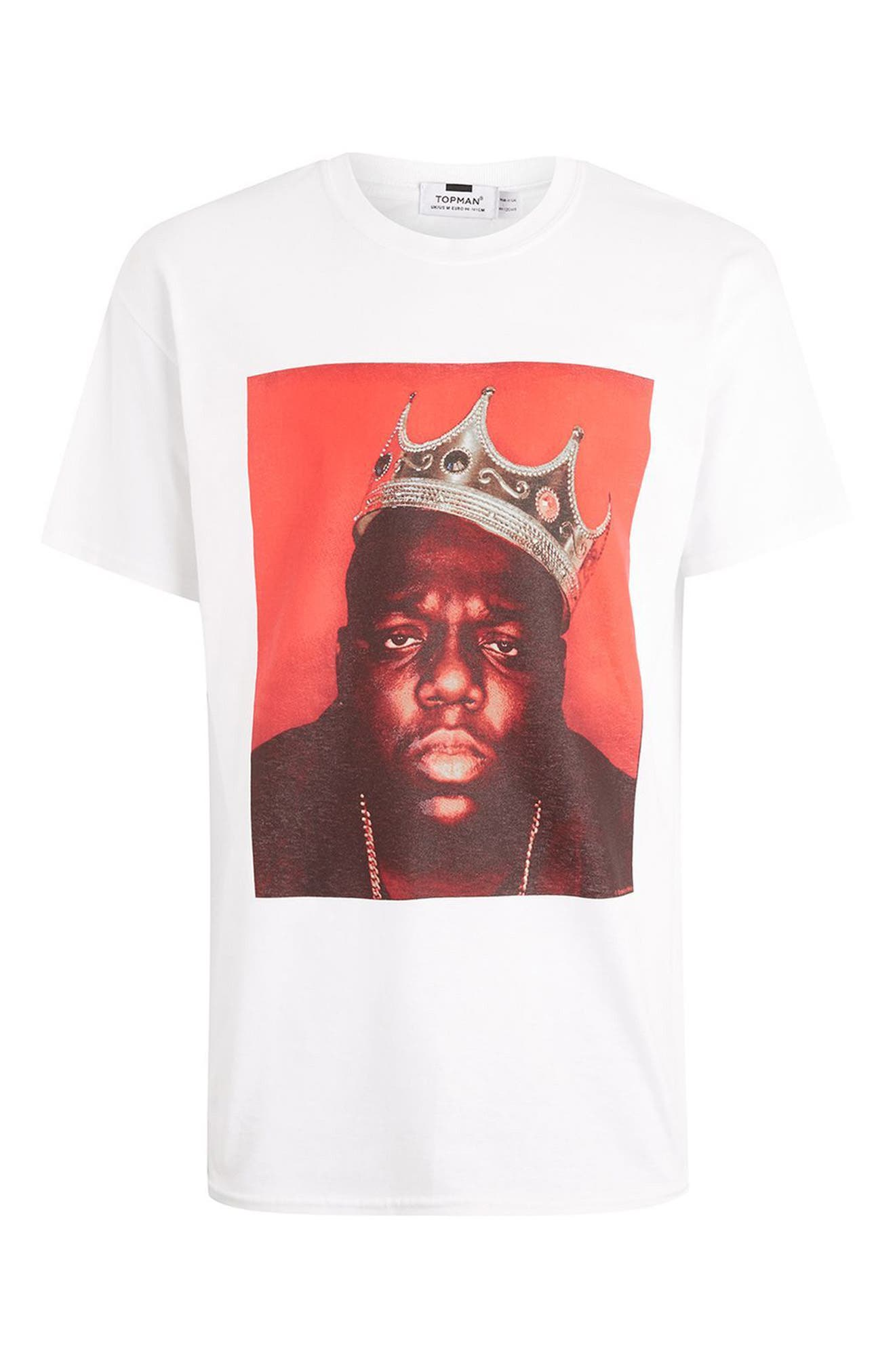 Alternate Image 4  - Topman Biggie Crown T-Shirt
