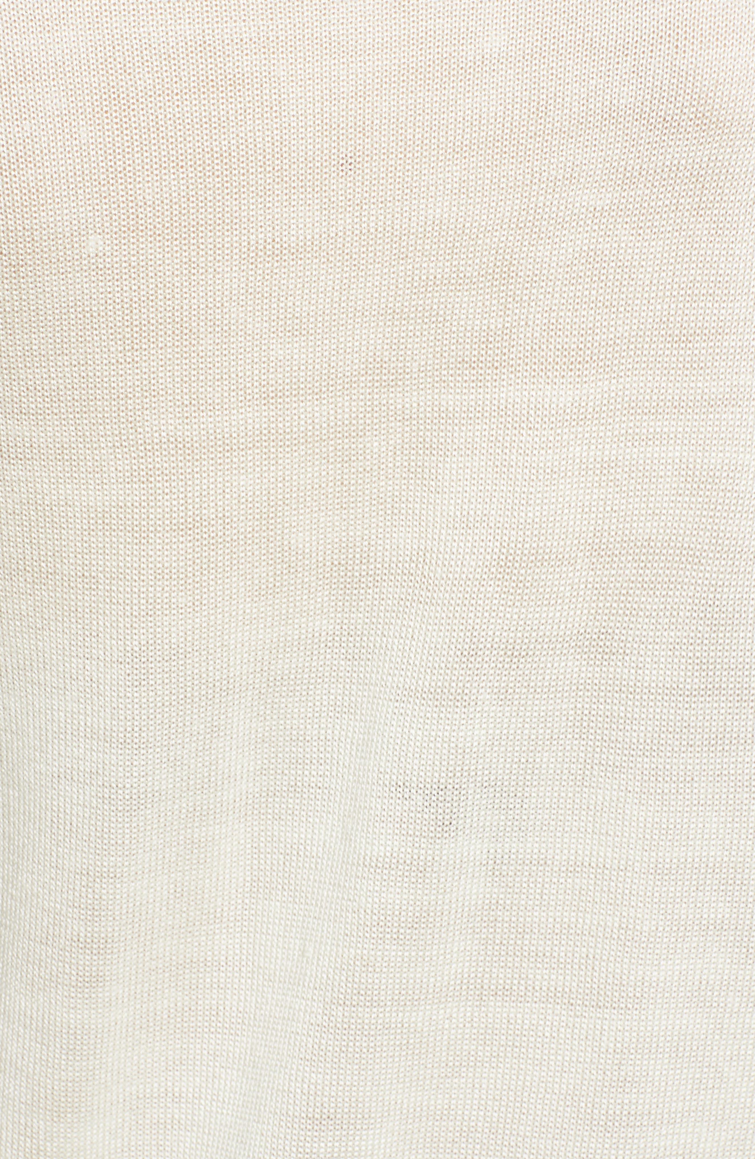 Cutout Sweatshirt,                             Alternate thumbnail 5, color,                             White