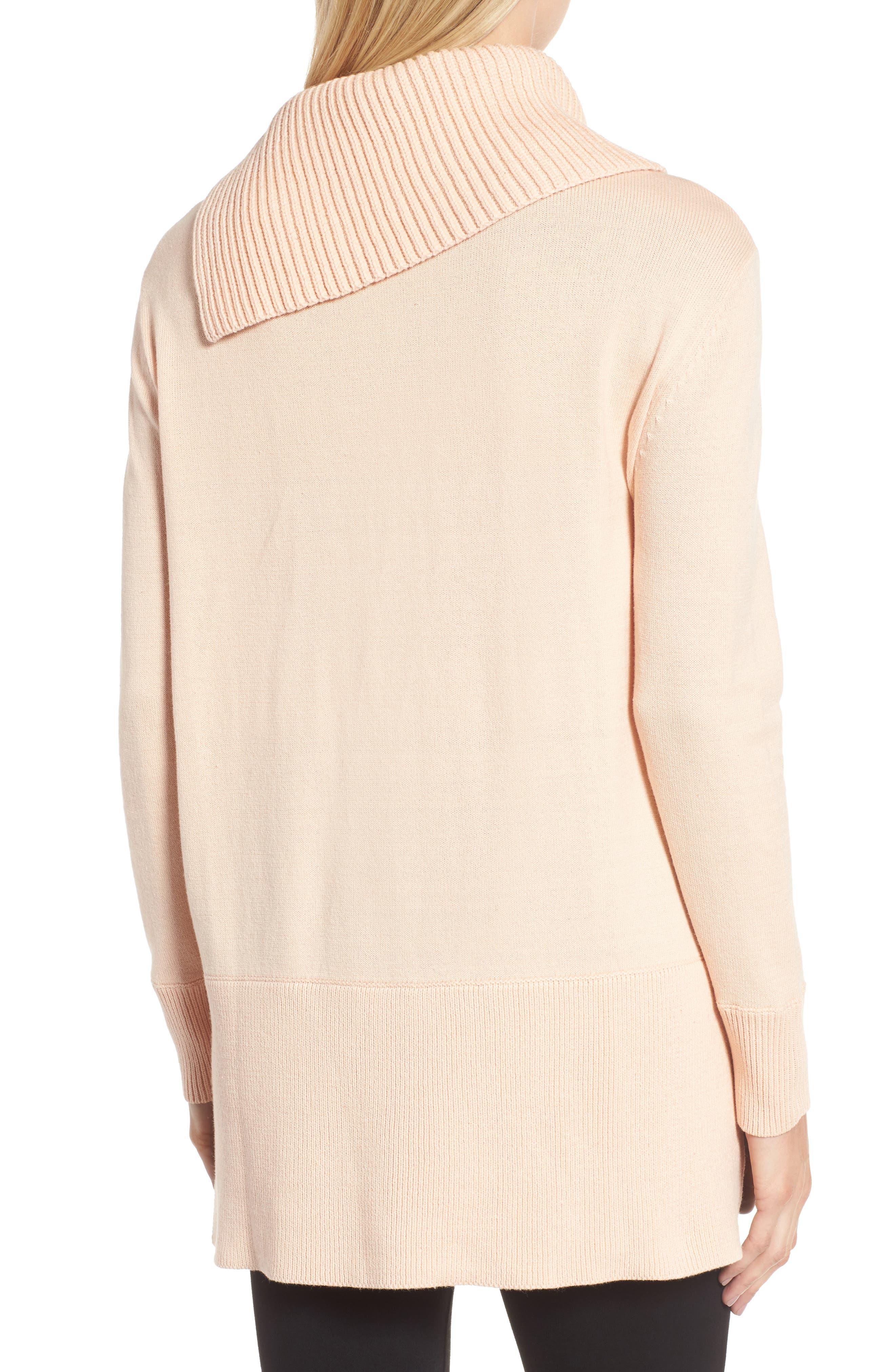 Cowl Neck Sweater,                             Alternate thumbnail 2, color,                             Blush