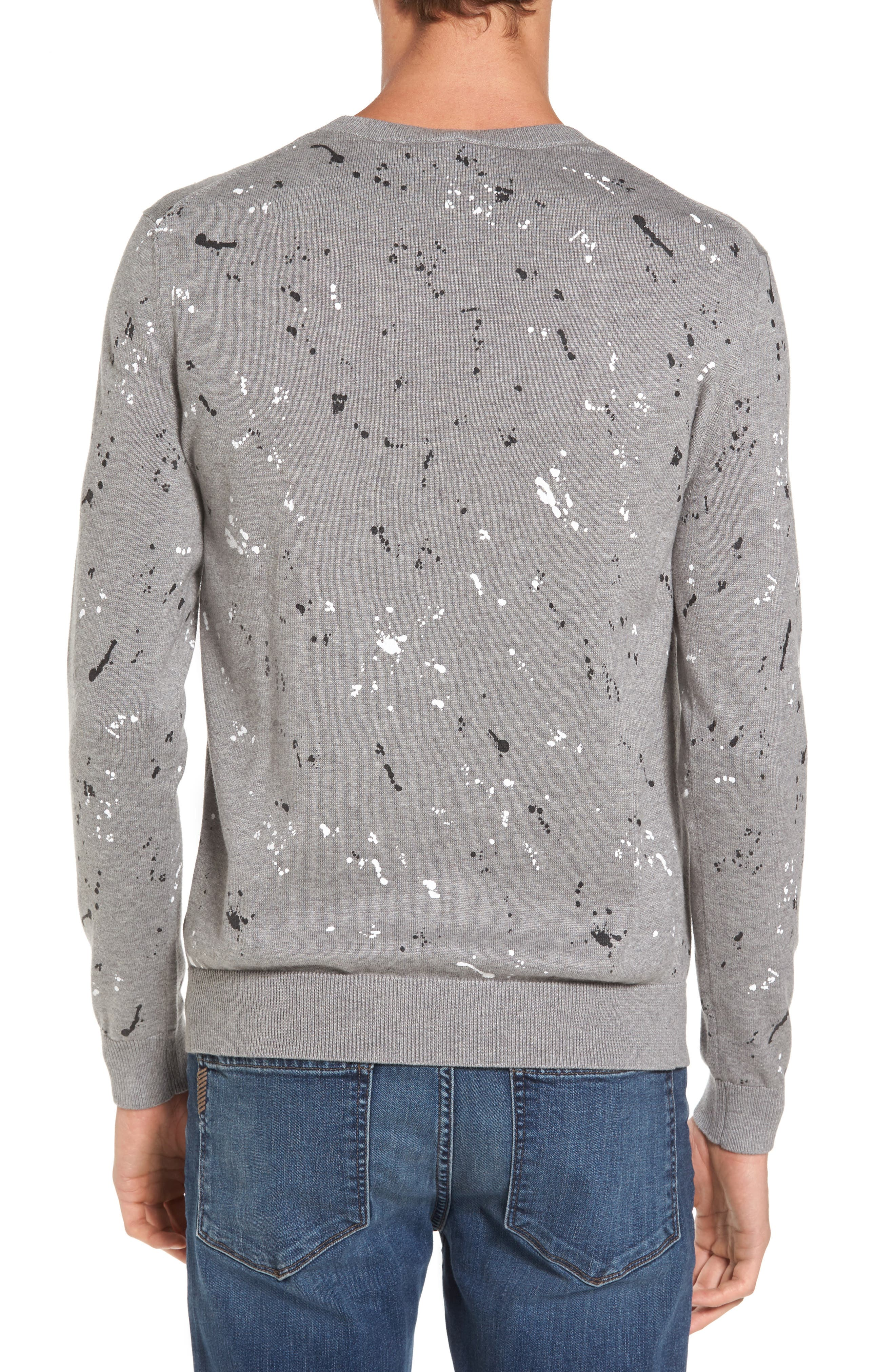 Splatter Sweater,                             Alternate thumbnail 2, color,                             Sru Palladium Mouline