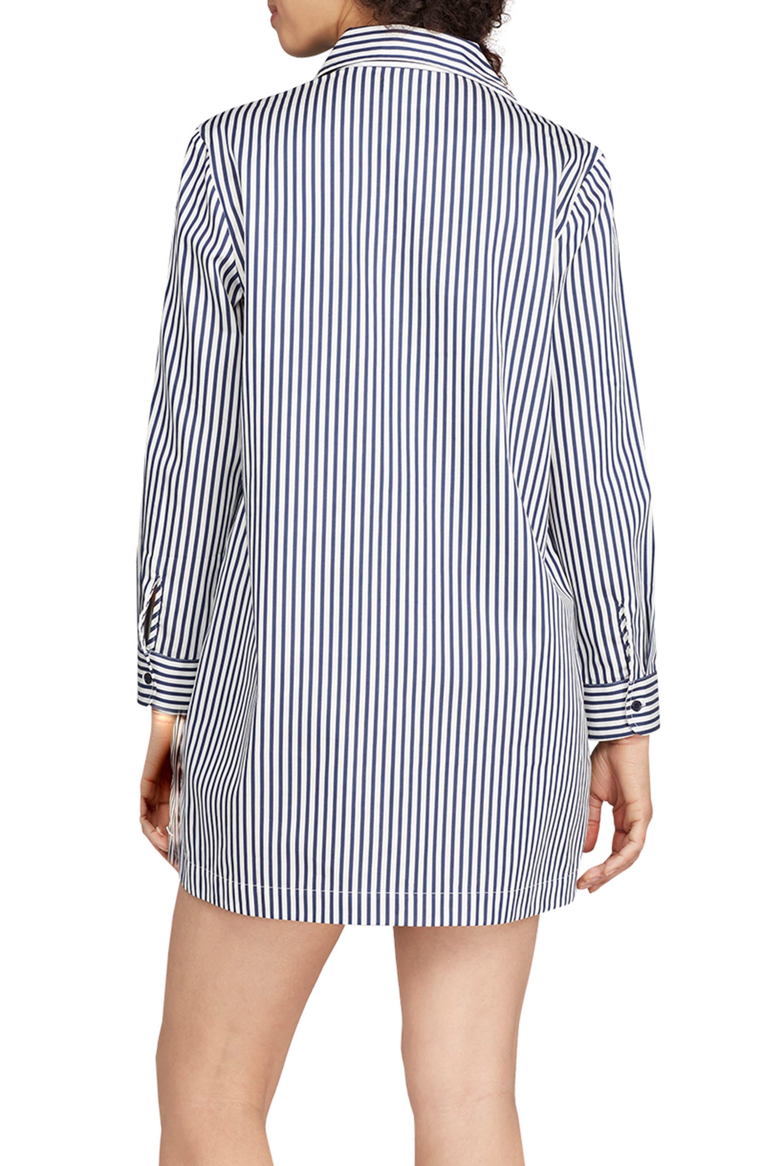 stripe sleep shirt,                             Alternate thumbnail 2, color,                             Navy Stripe