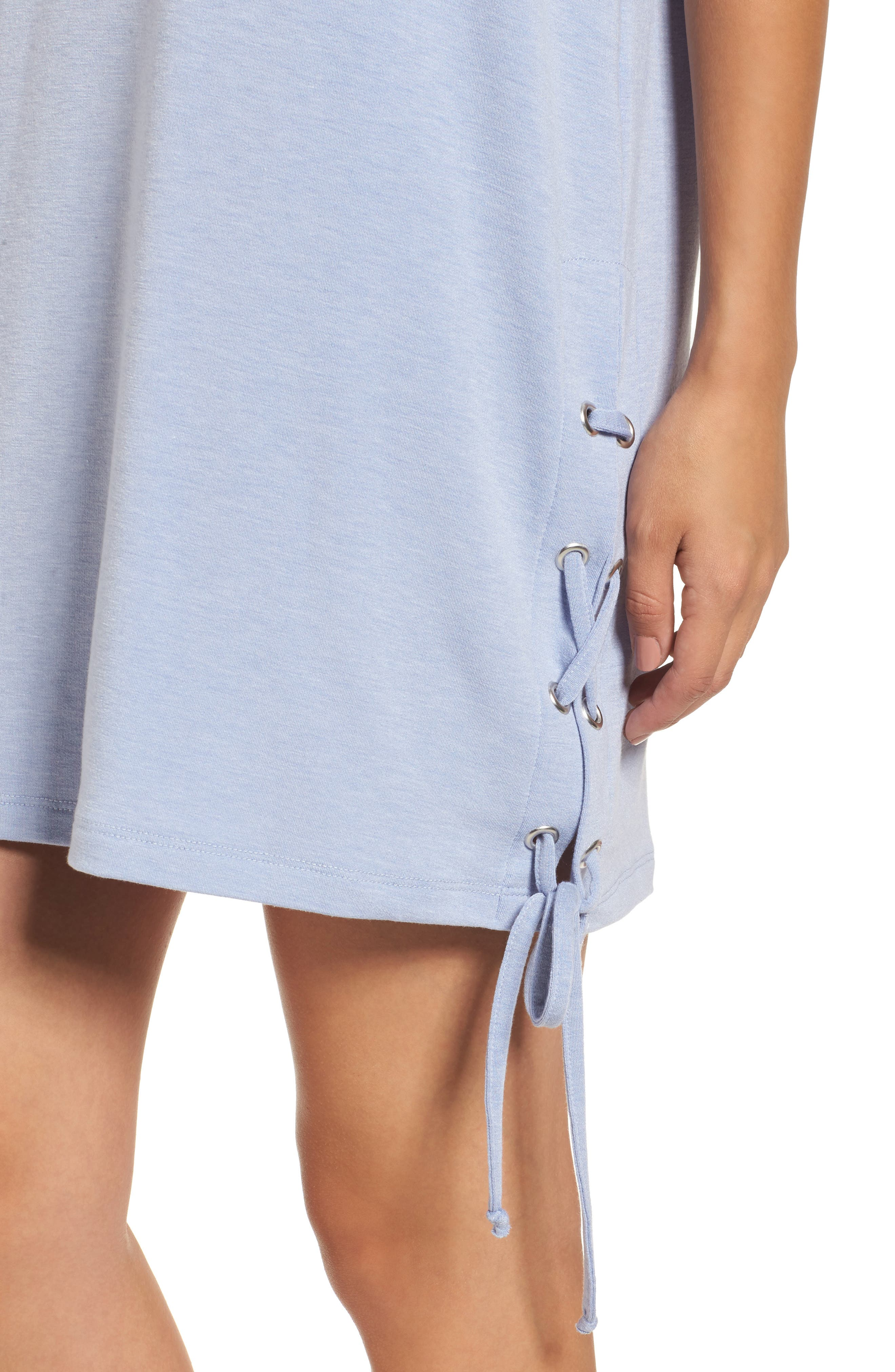 Alternate Image 4  - Lace-Up Side T-Shirt Dress
