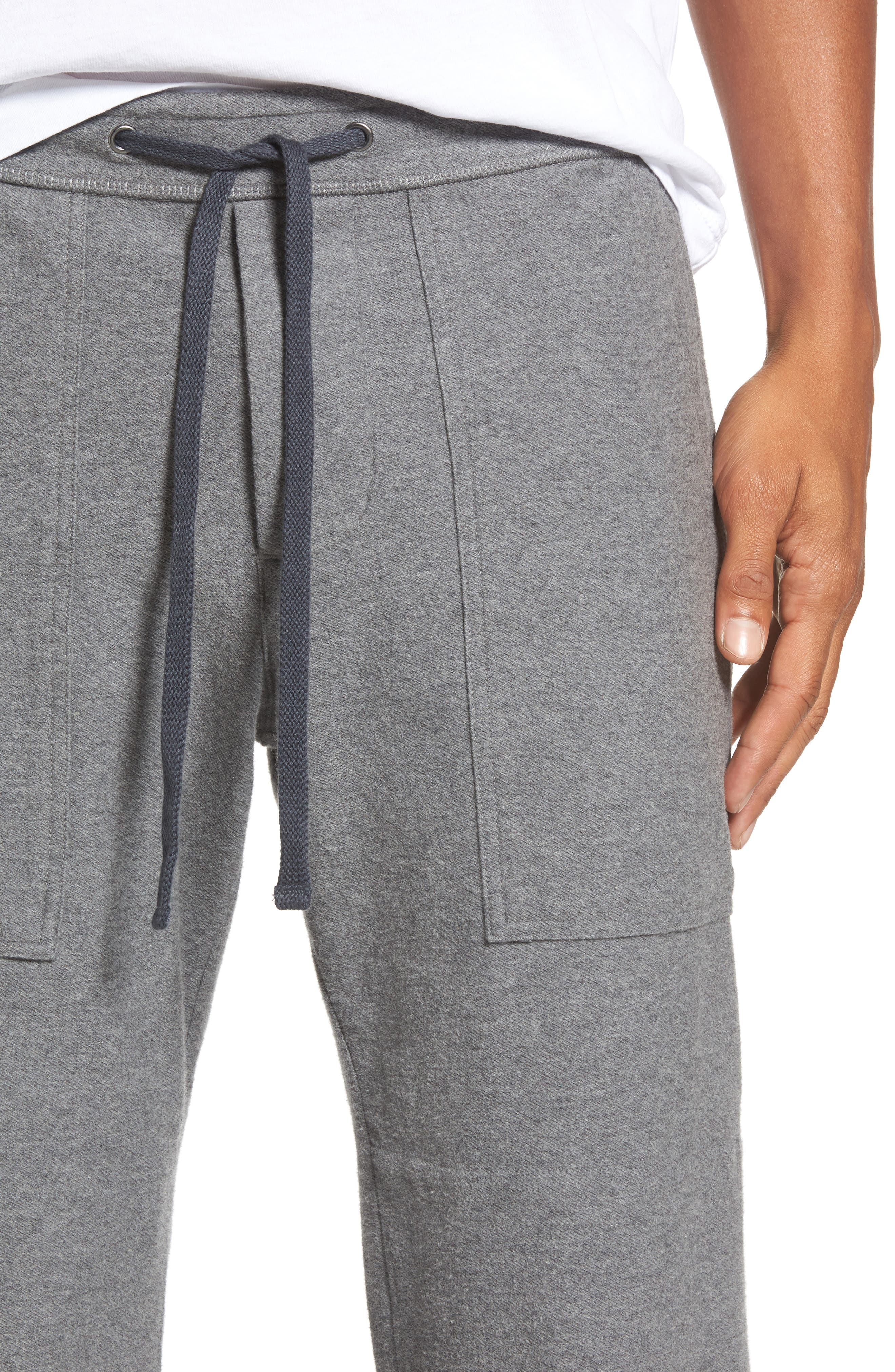 Heathered Knit Lounge Pants,                             Alternate thumbnail 4, color,                             Heather Grey