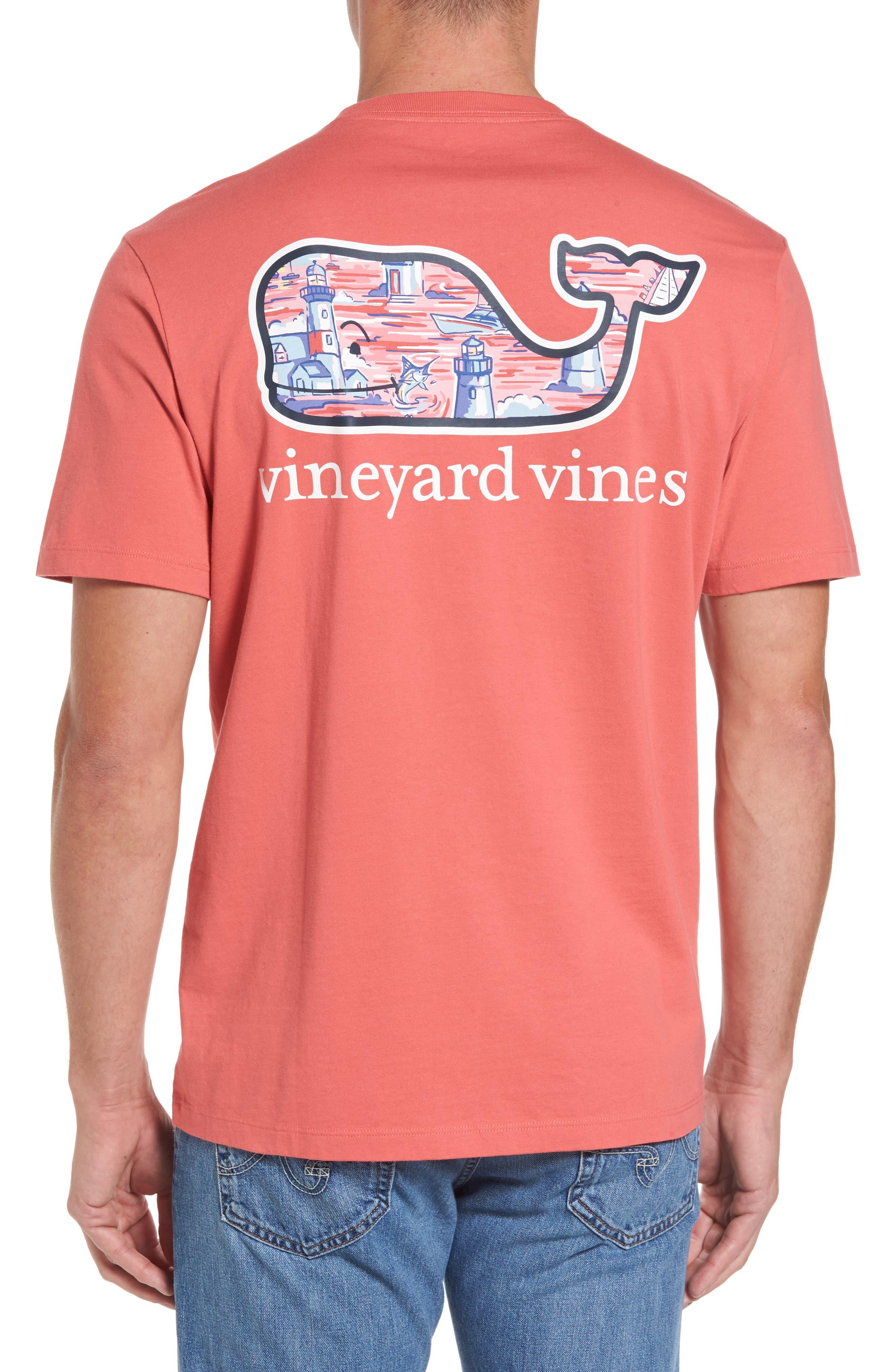 Alternate Image 1 Selected - vineyard vines Lighthouse Whale Pocket T-Shirt