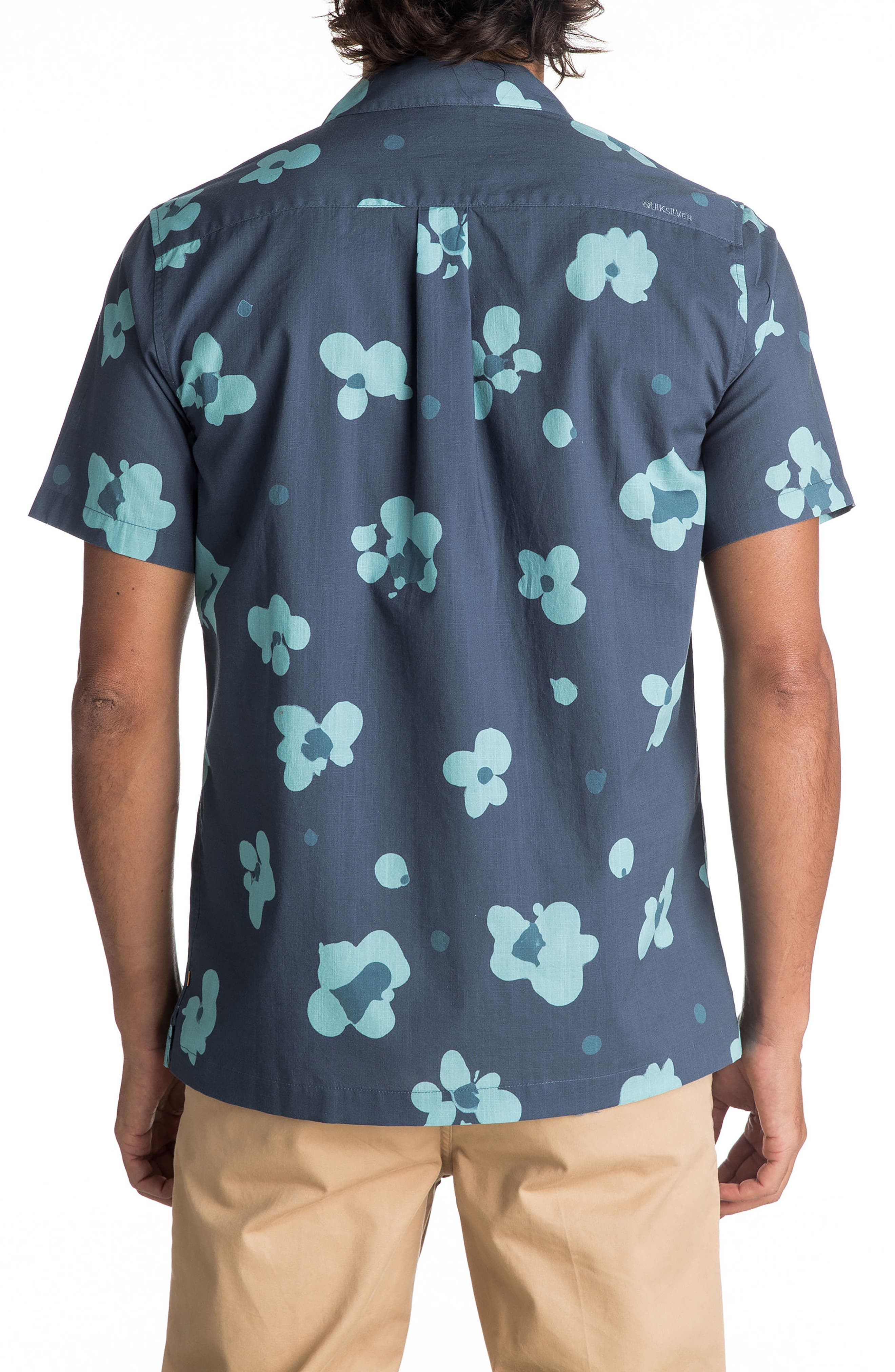 Alternate Image 2  - Quiksilver Waterman Collection Waterfloral Camp Shirt