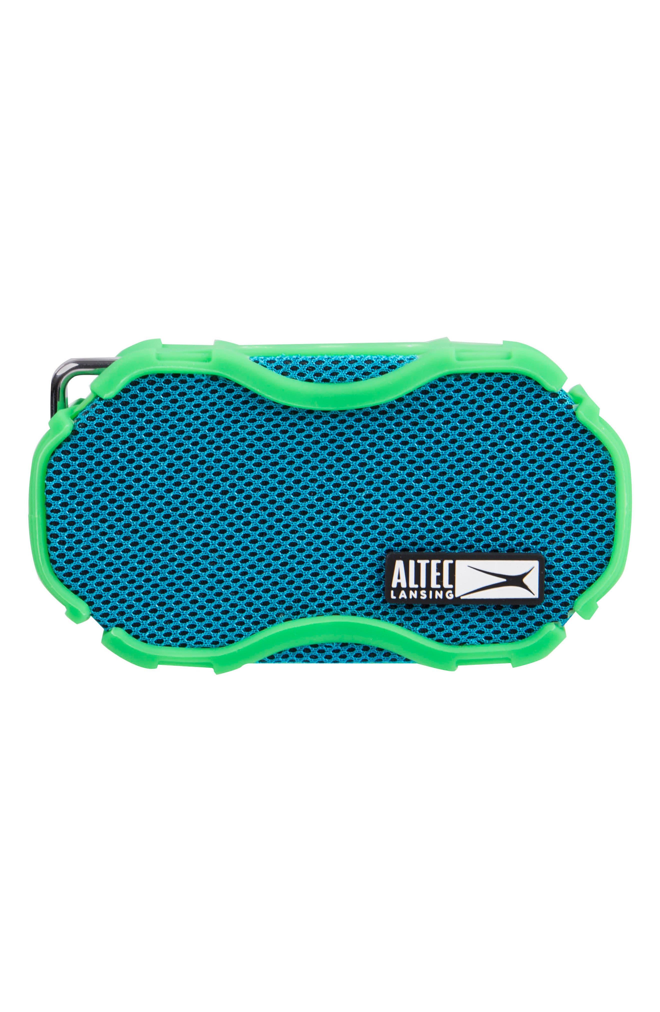 Baby Boom Waterproof Wireless Speaker,                             Main thumbnail 1, color,                             Green/ Blue Green