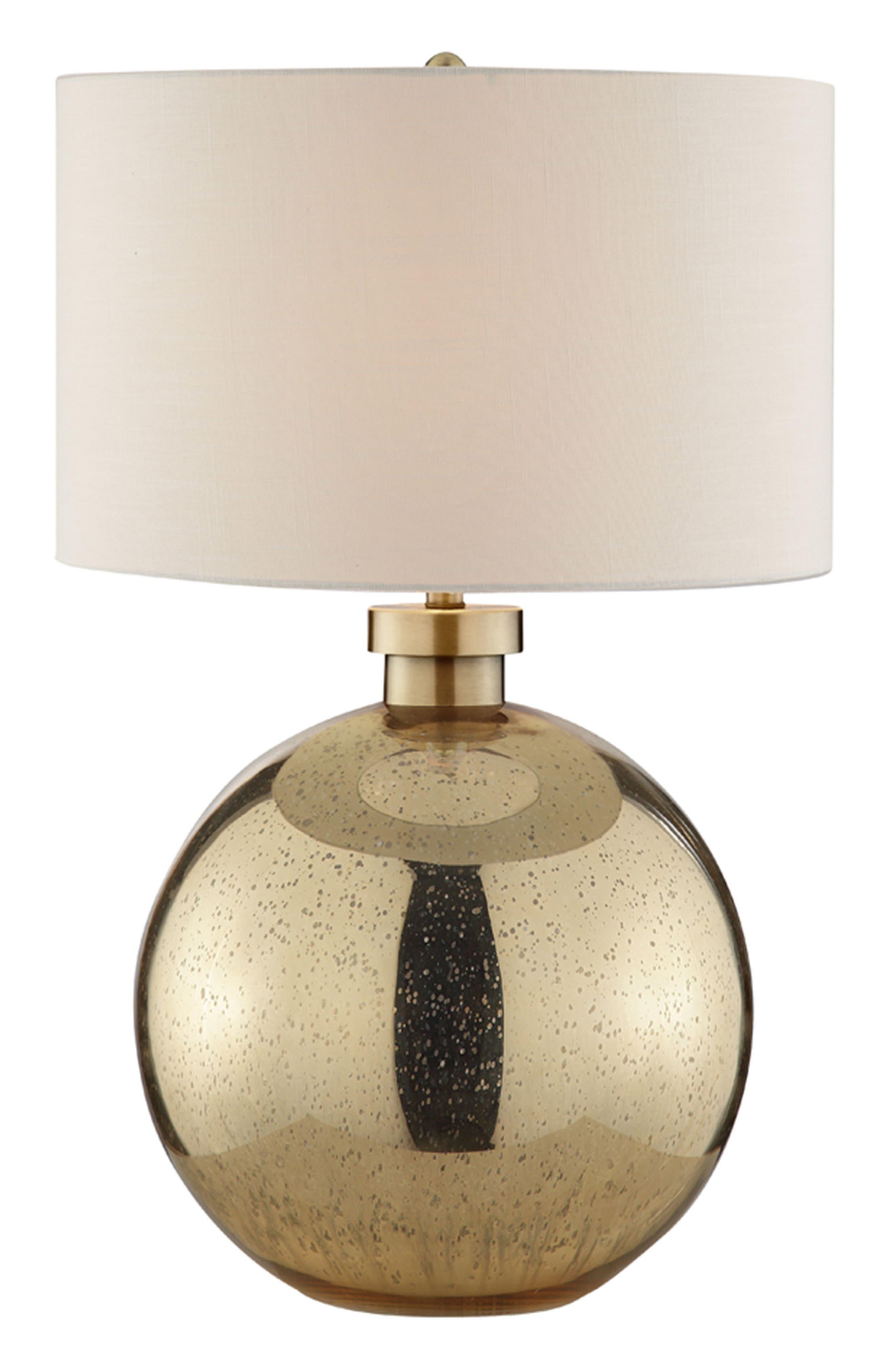 JAlexander Luna Gold Table Lamp,                             Main thumbnail 1, color,                             Gold