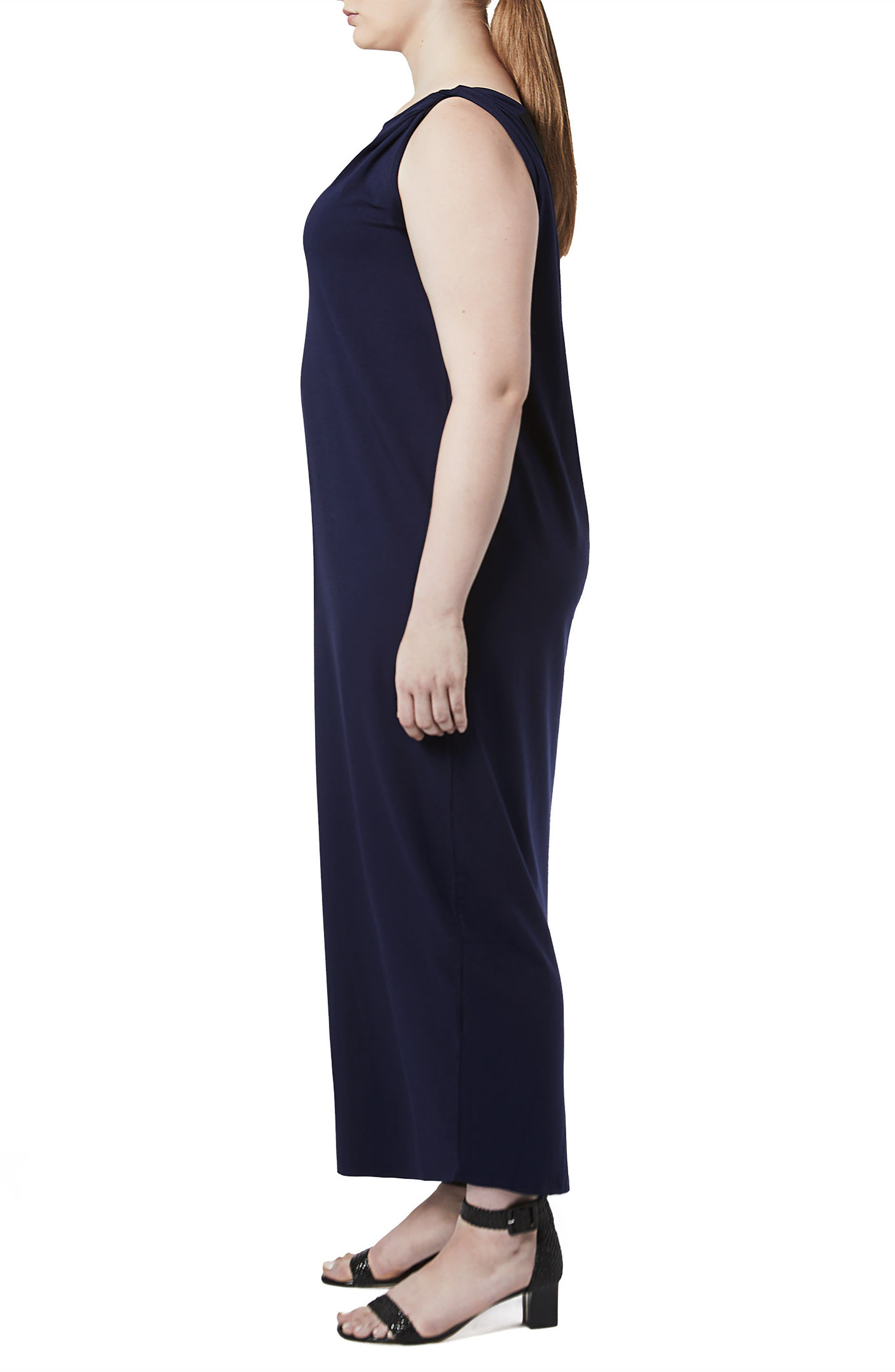 Tenna Washed Jersey Maxi Dress,                             Alternate thumbnail 3, color,                             Evening Blue
