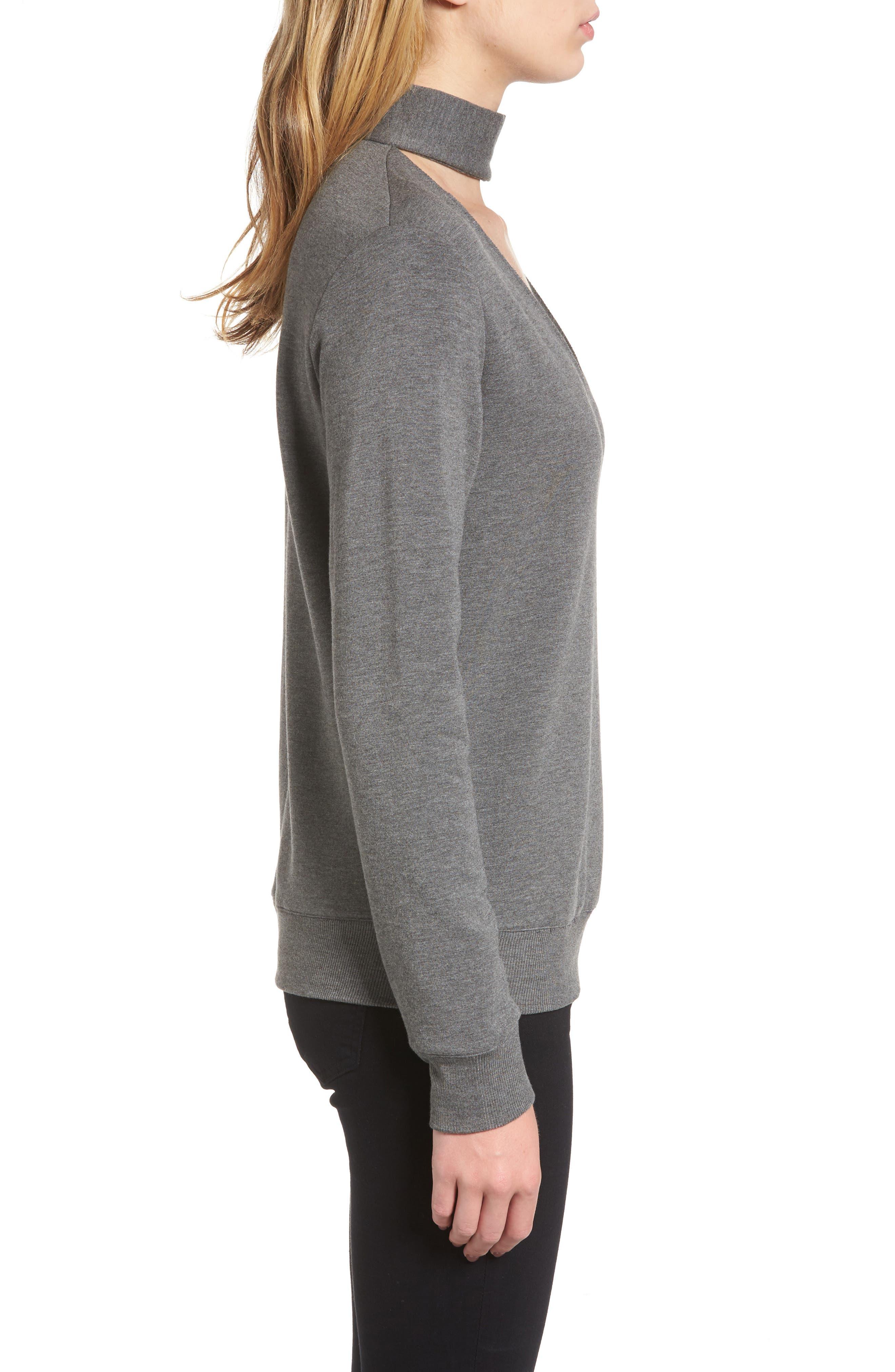 Alternate Image 3  - Bailey 44 Eye Splice Choker Sweatshirt