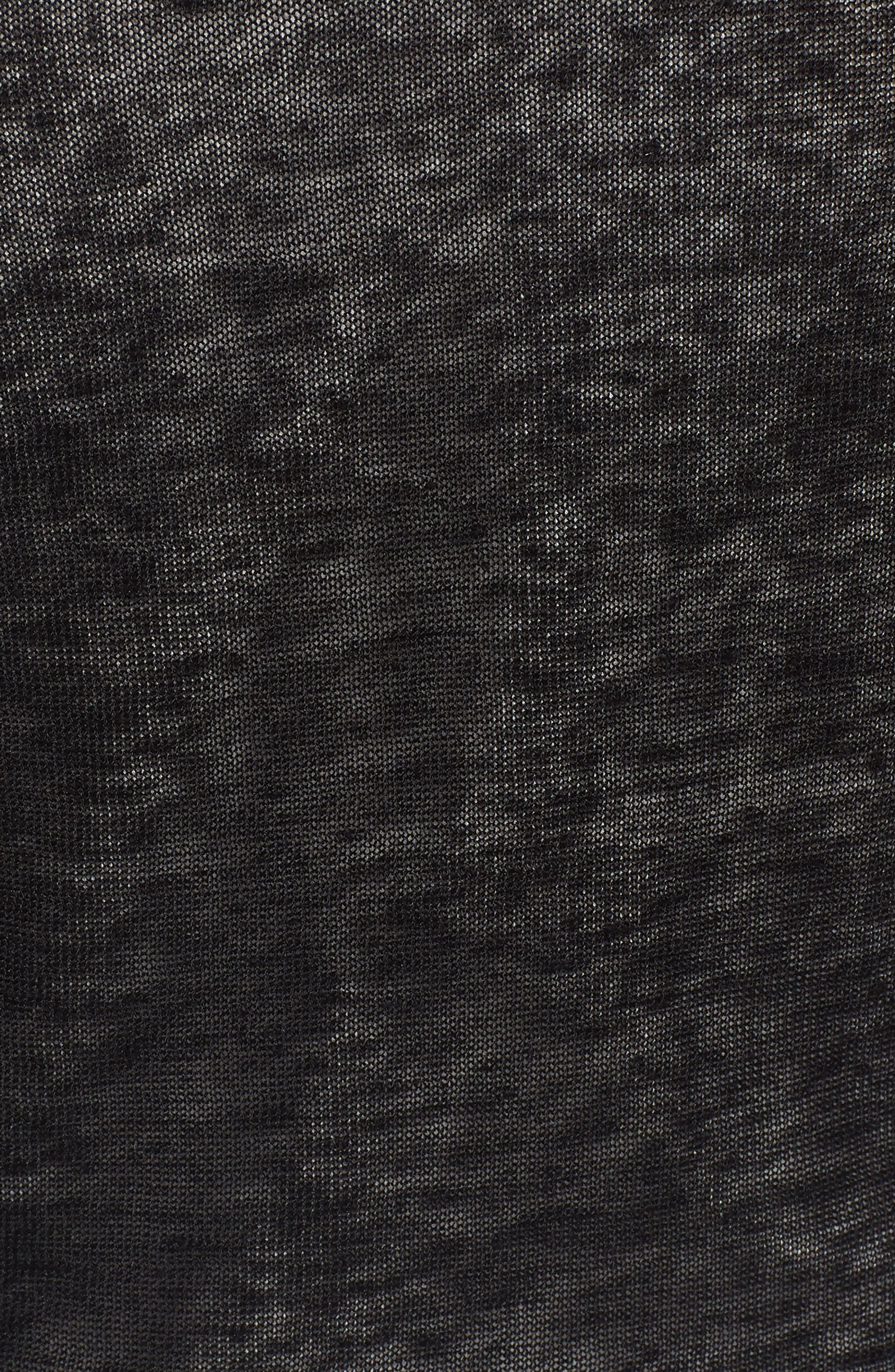 4-Way Convertible Three Quarter Sleeve Cardigan,                             Alternate thumbnail 6, color,                             Black Onyx