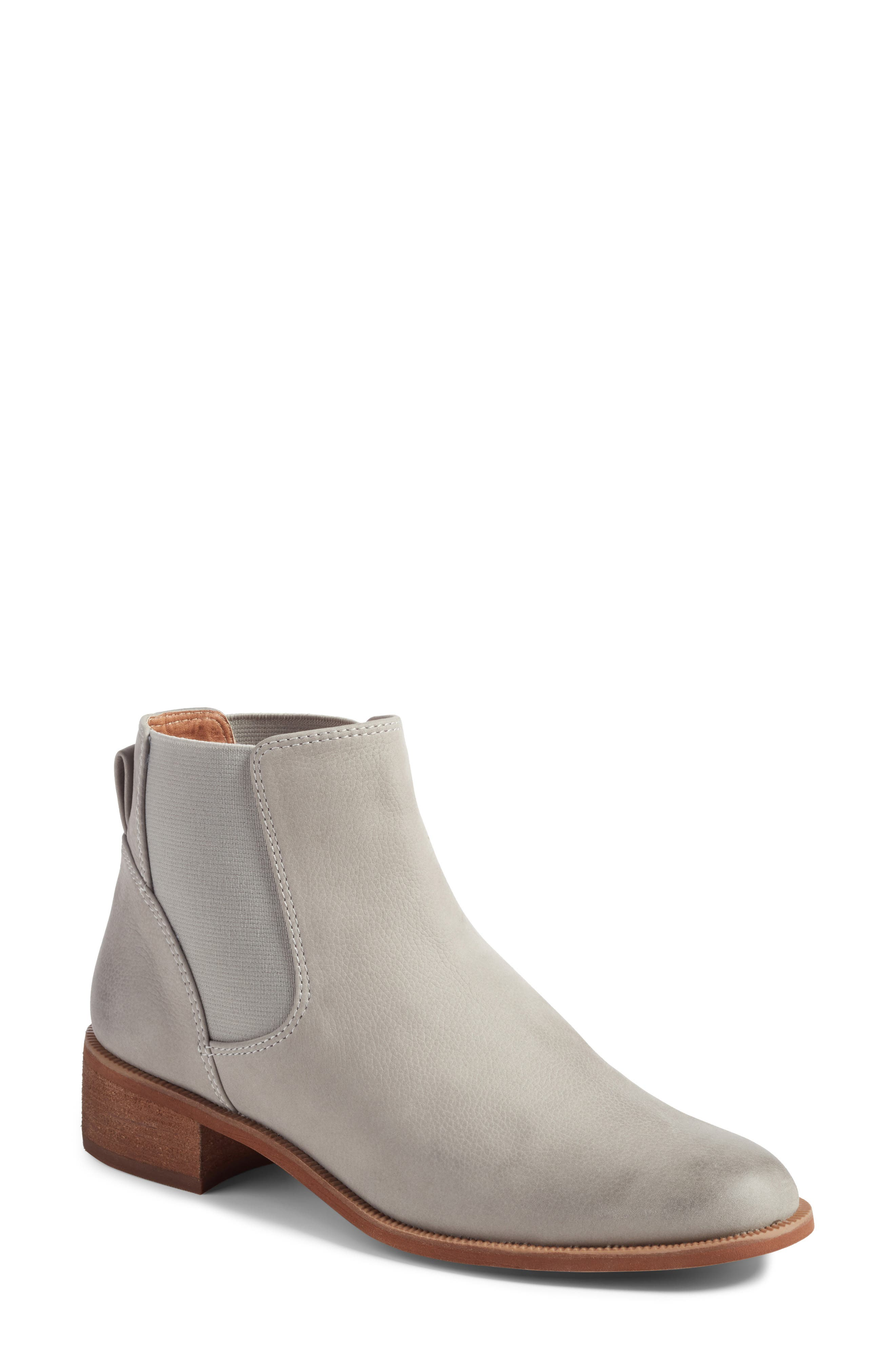 Brenna Water Resistant Bootie,                         Main,                         color, Mushroom Oiled Leather