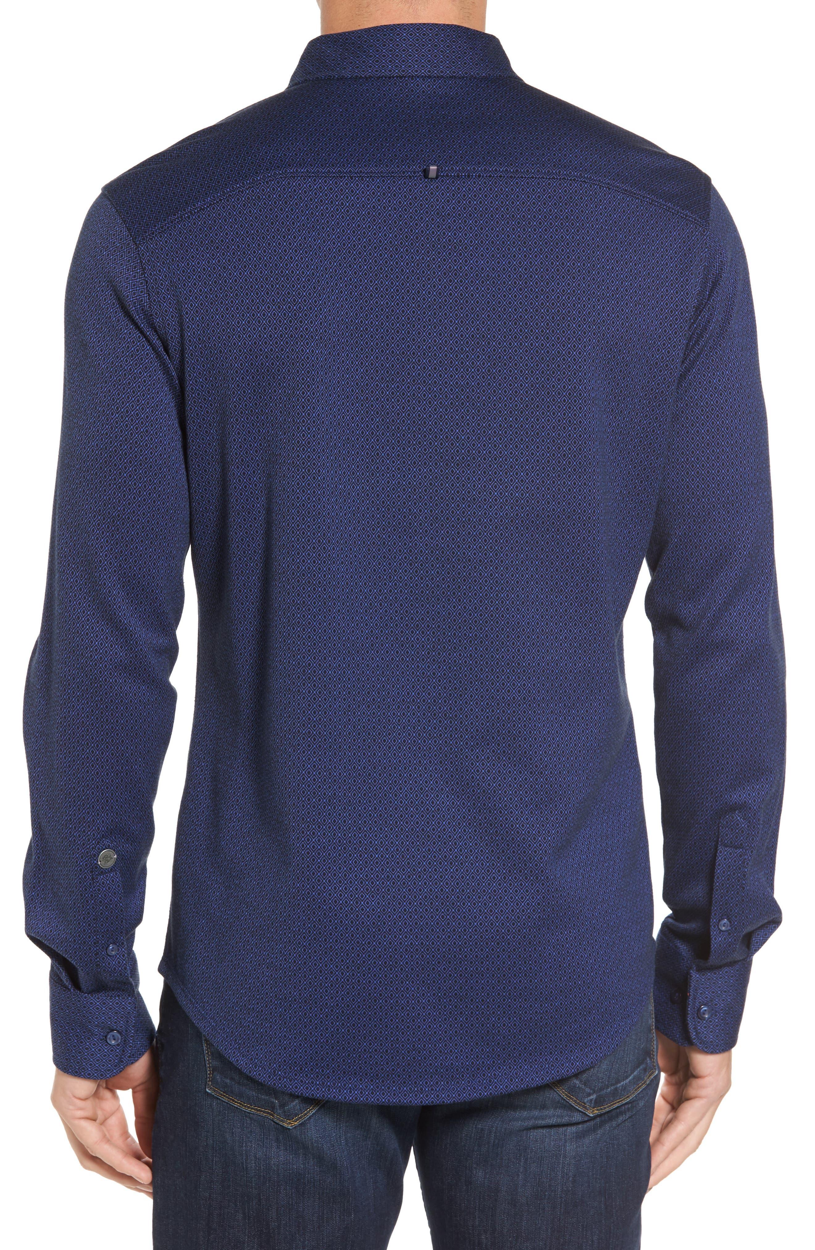 Alternate Image 2  - Stone Rose Slim Fit Dobby Diamond Sport Shirt