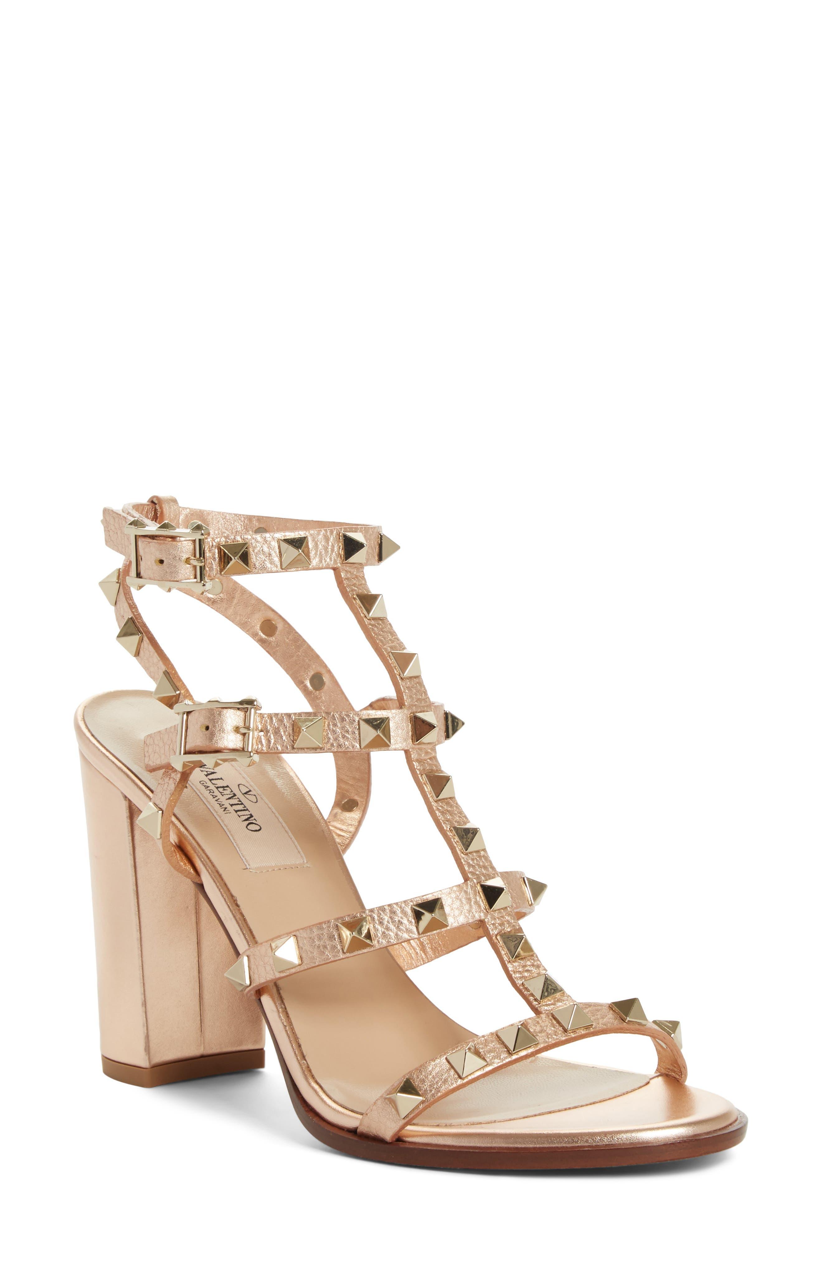 Valentino Rockstud T-Strap Sandal (Women)