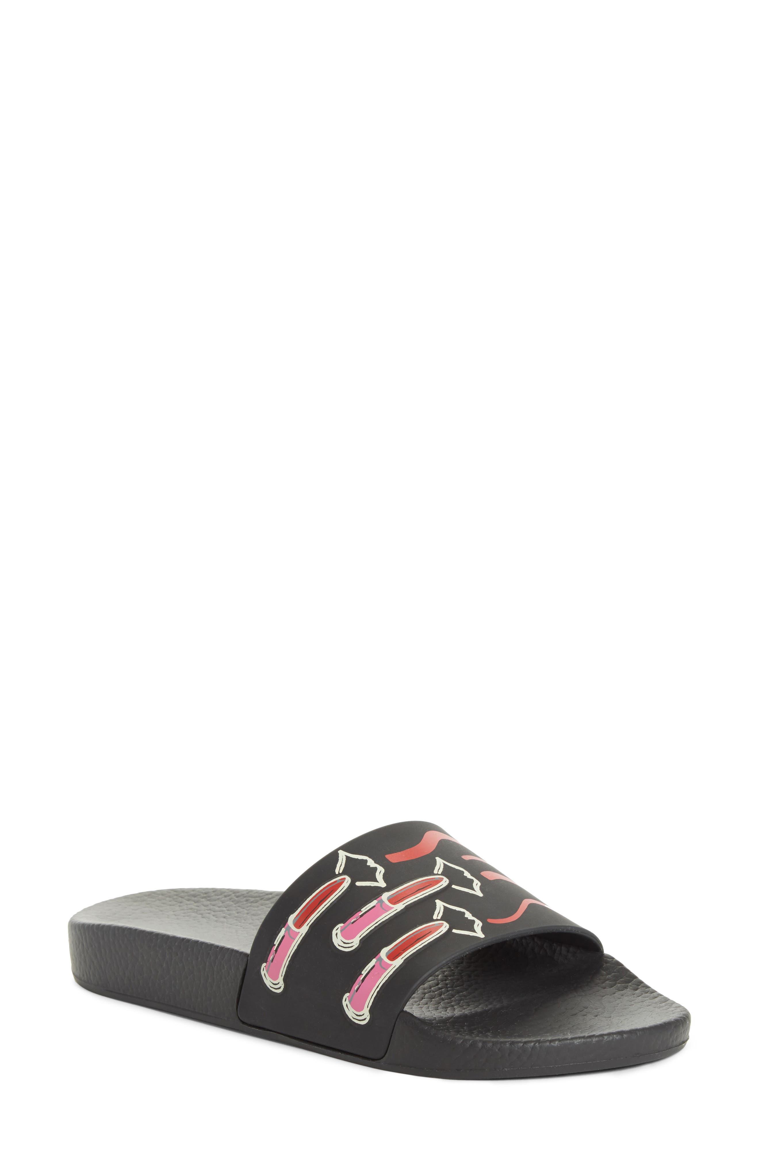 VALENTINO GARAVANI Lipstick Slide Sandal (Women)