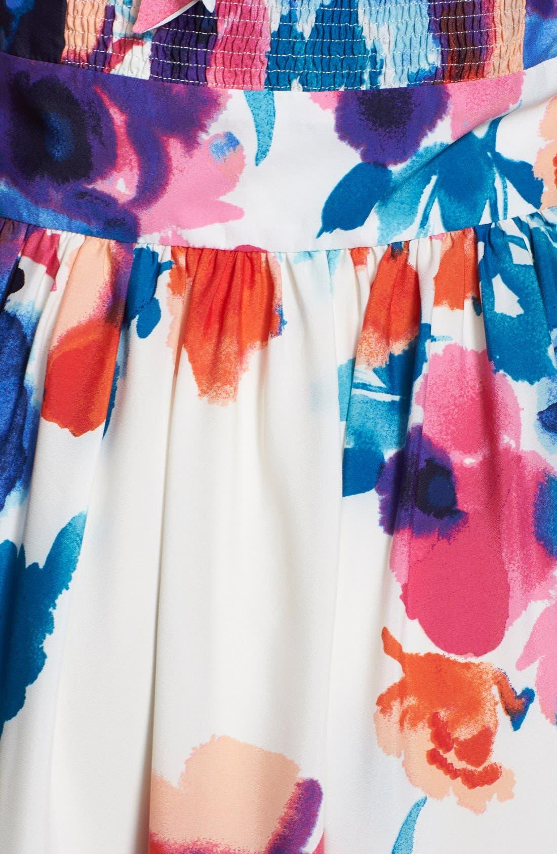 Alternate Image 3  - Eliza J Floral Print Halter Maxi Dress