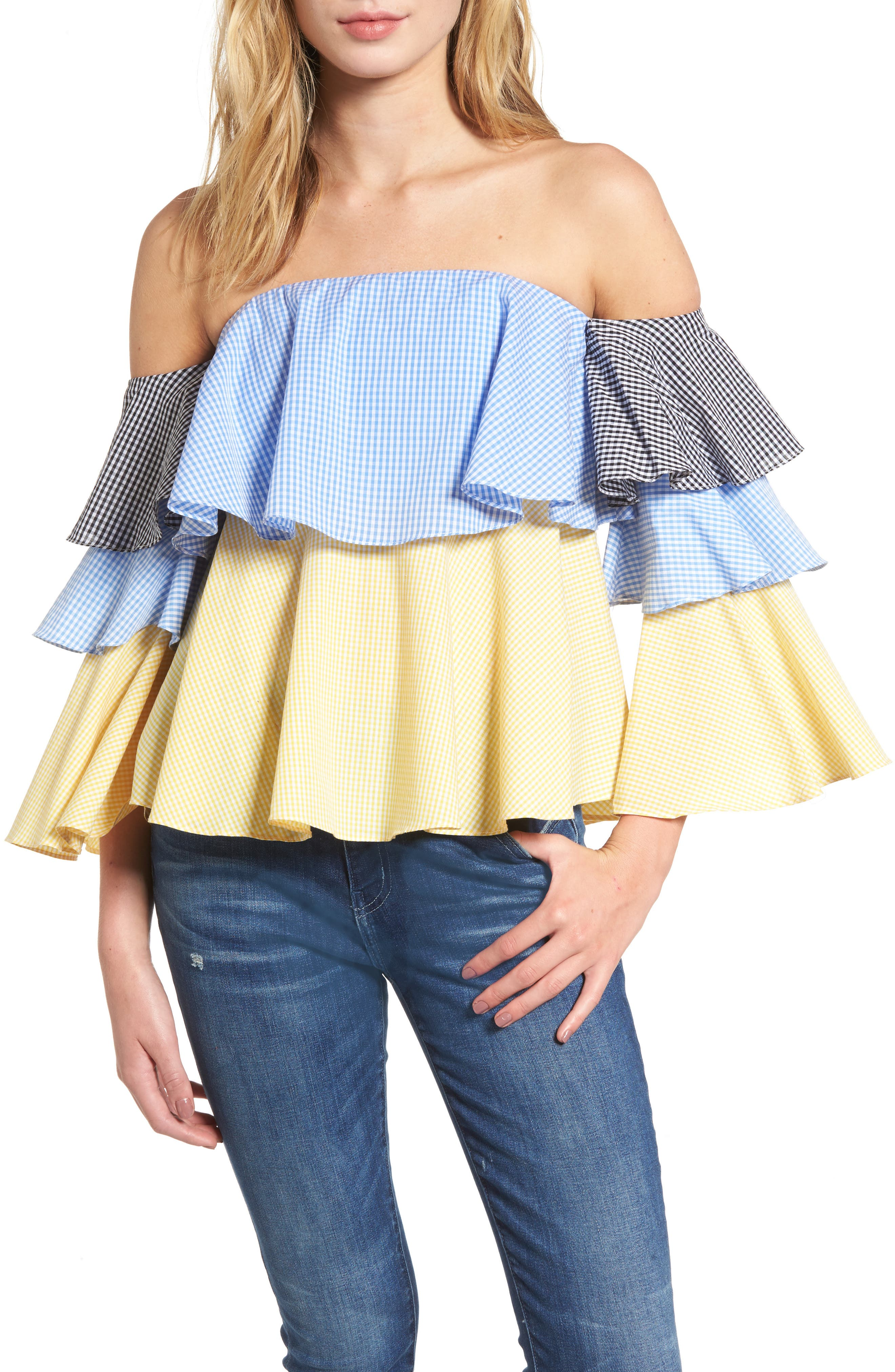 Alternate Image 1 Selected - StyleKeepers The Virgo Ruffle Top