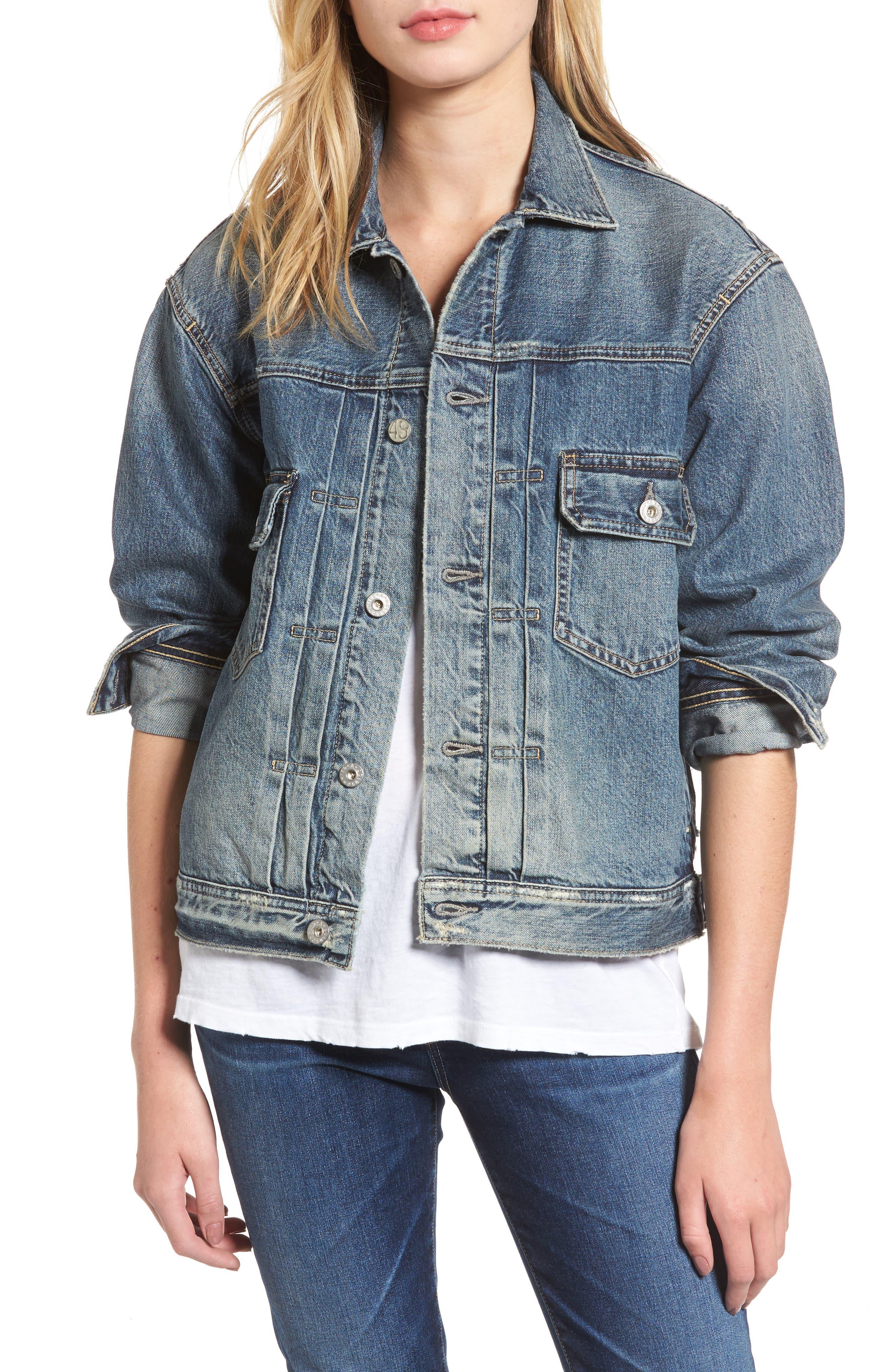 Alternate Image 1 Selected - AG Cassie Denim Jacket