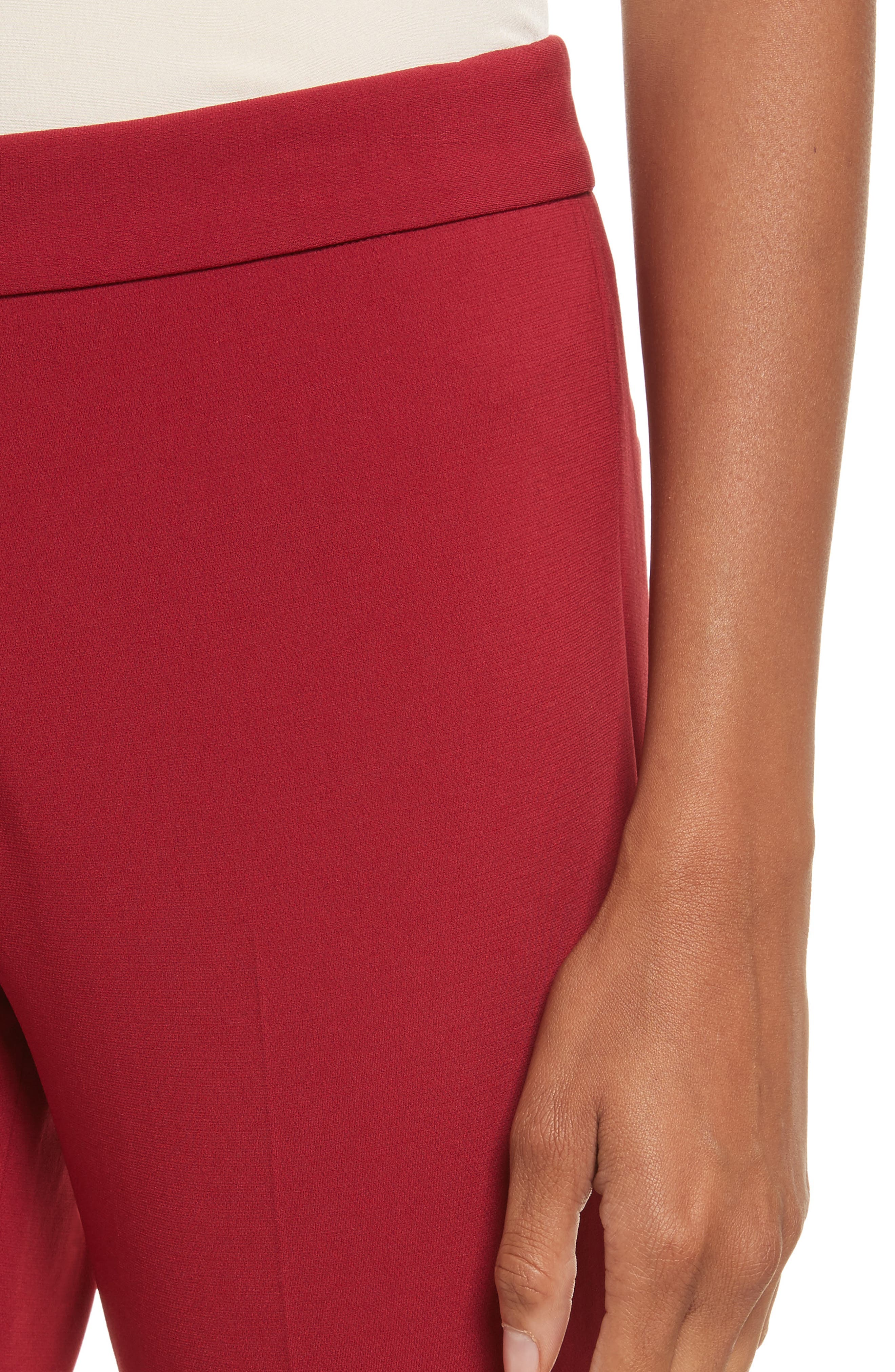 Admiral Crepe Kick Crop Pants,                             Alternate thumbnail 4, color,                             Bright Raspberry