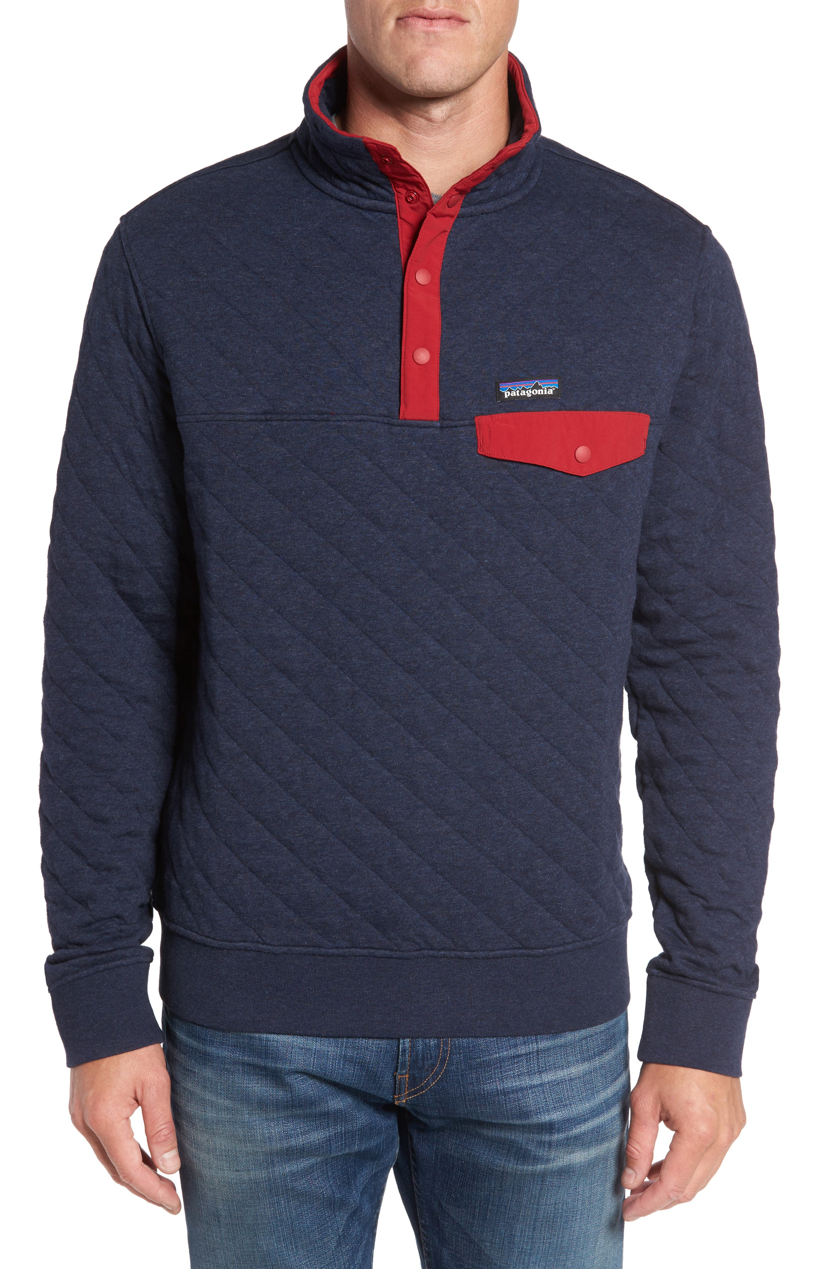 Alternate Image 1 Selected - Patagonia Snap-T® Quilted Fleece Pullover