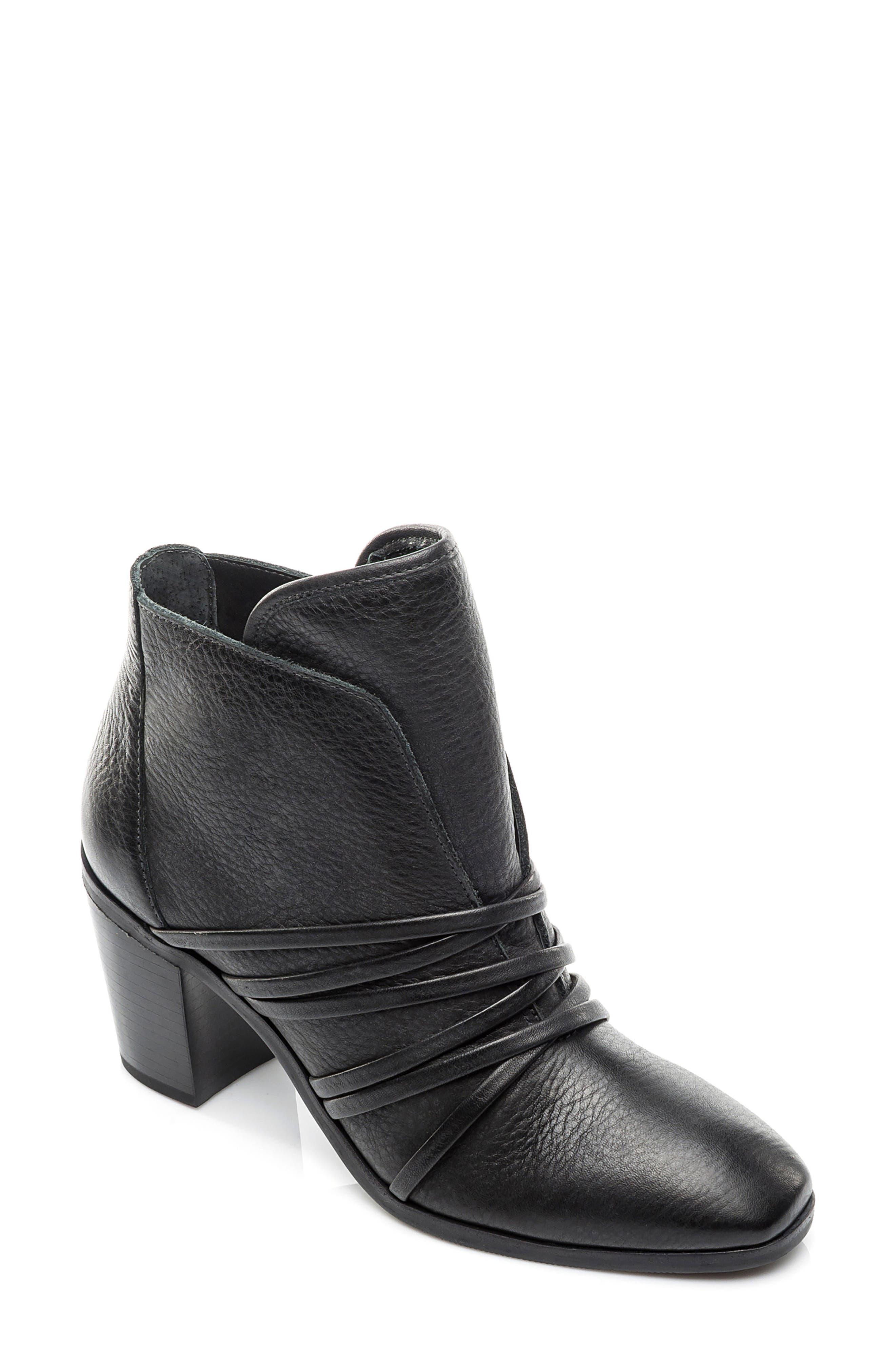 Bernardo Felicity Bootie,                         Main,                         color, Black Pebble Leather