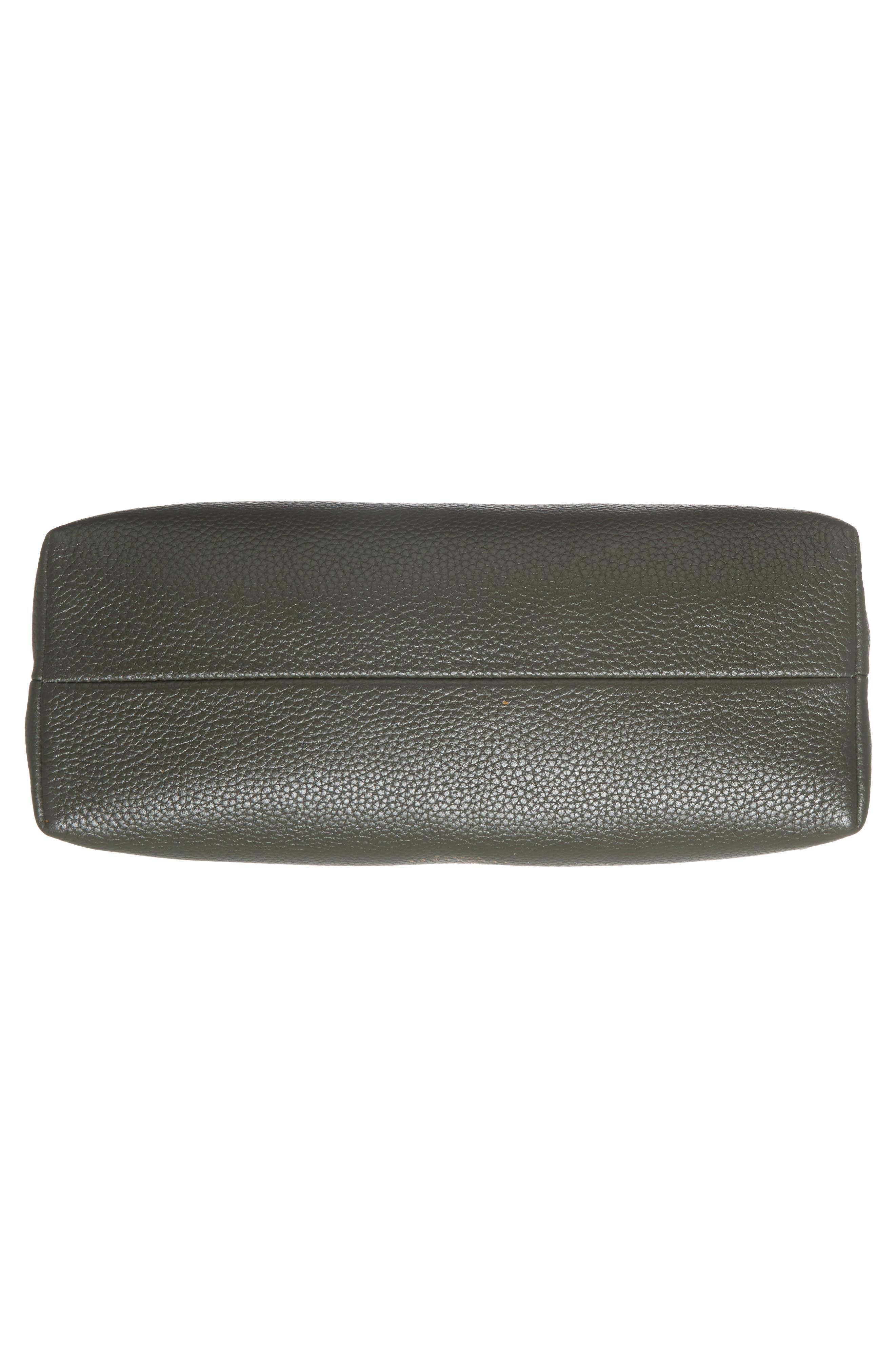 Sorikai Leather & Suede Crossbody Bag,                             Alternate thumbnail 5, color,                             Khaki