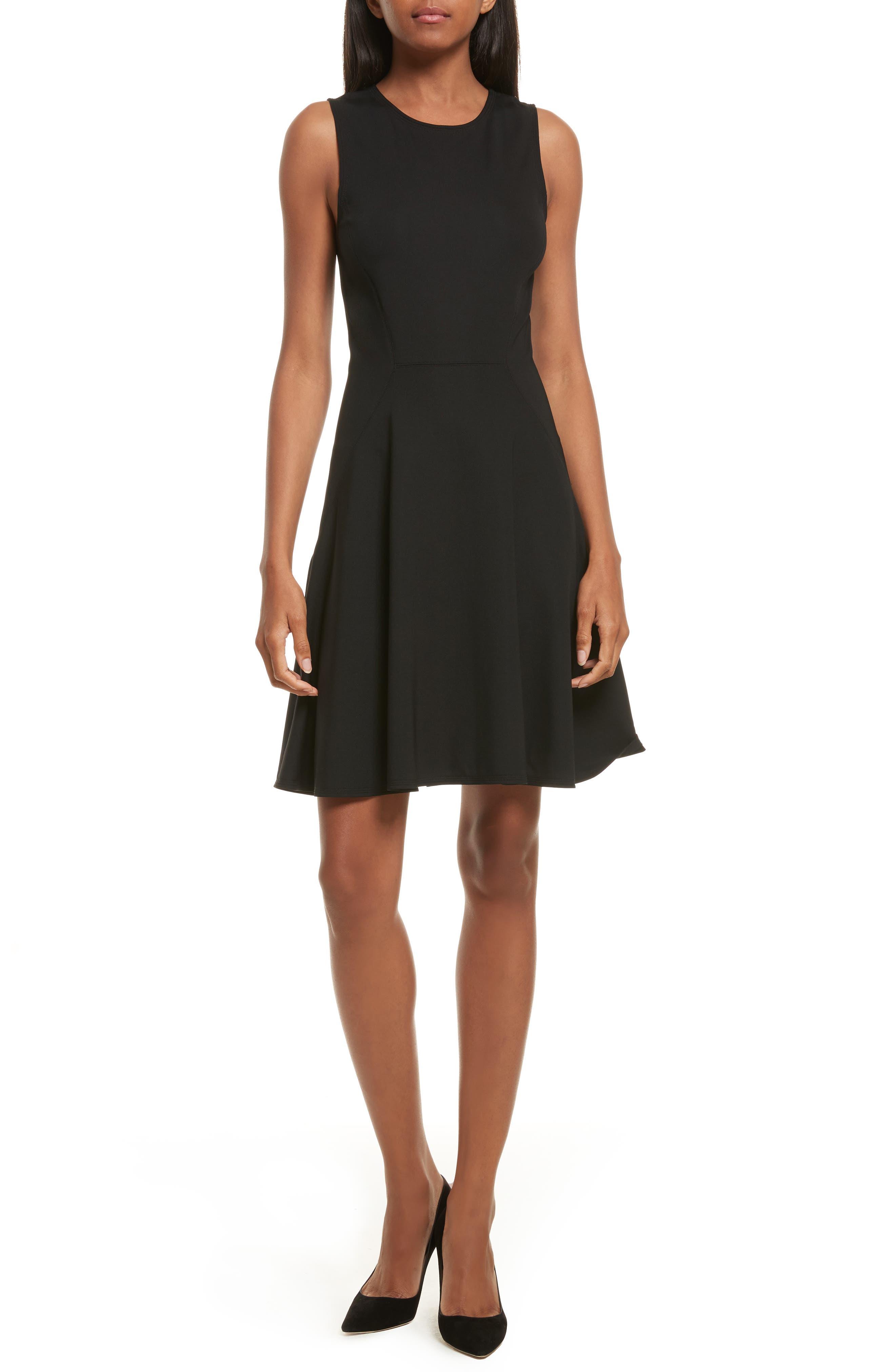 Harlock Fit & Flare Dress,                         Main,                         color, Black