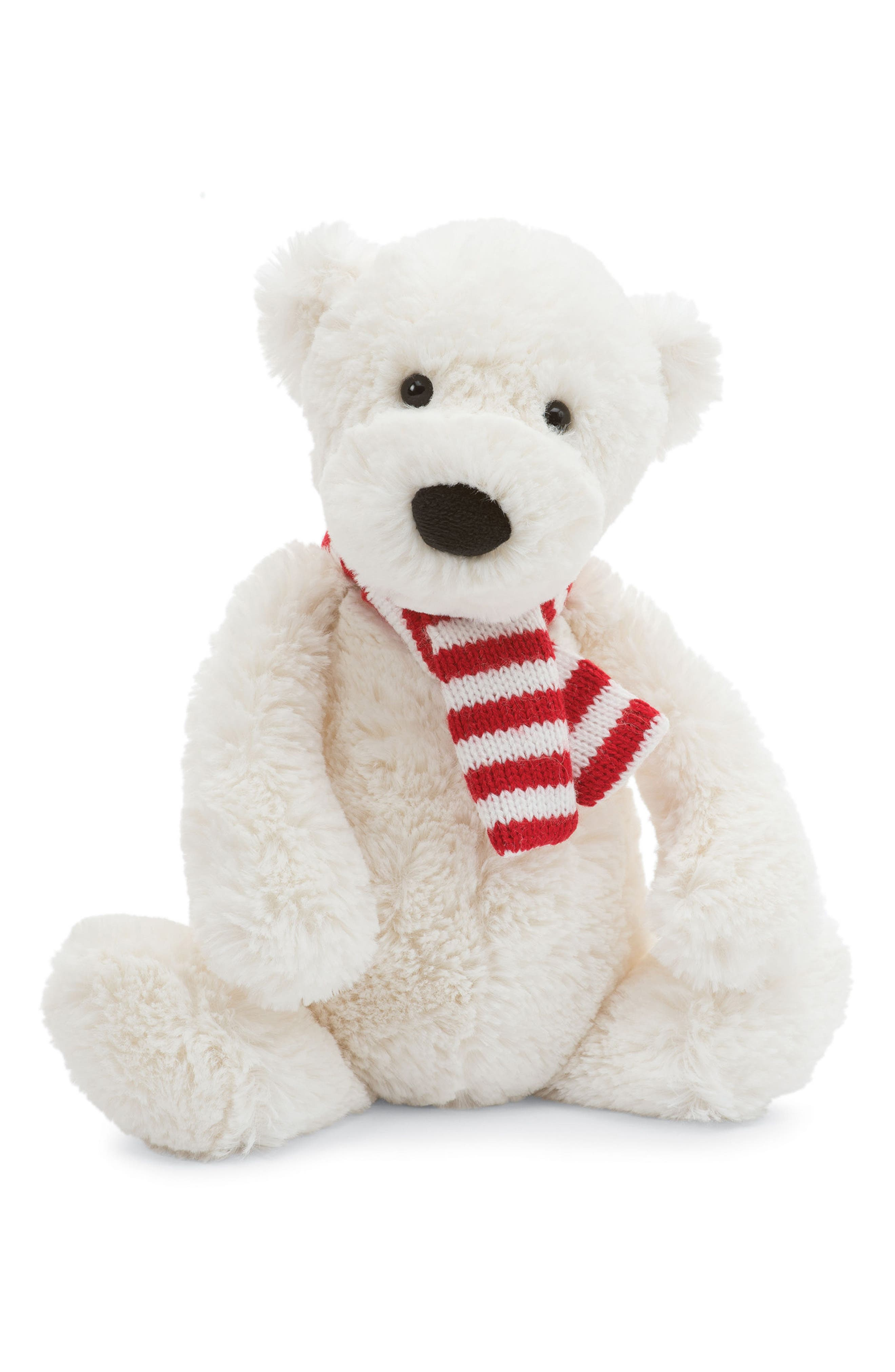 Bashful Pax Polar Bear Stuffed Animal,                         Main,                         color, Polar White