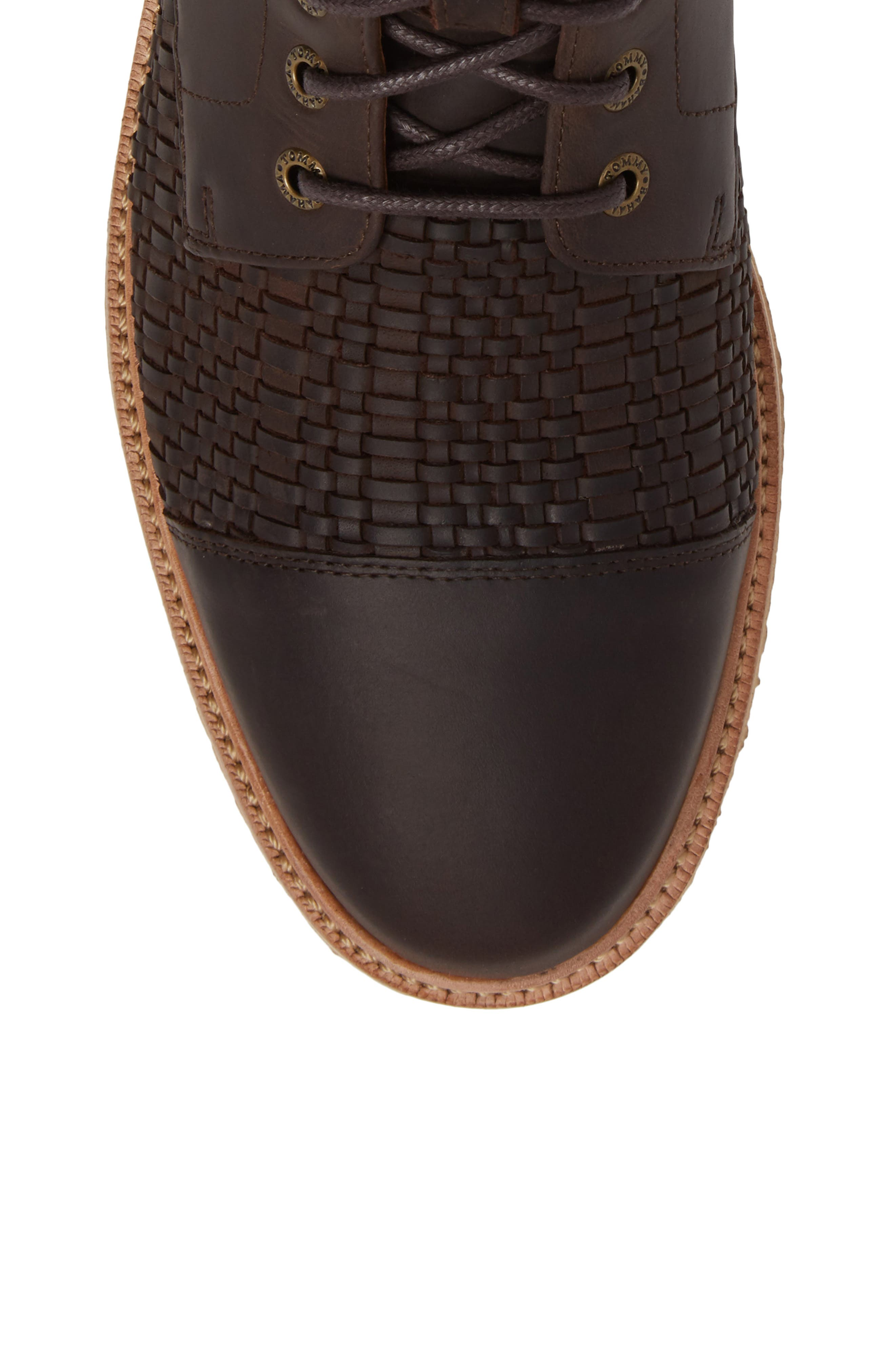 Argon Blooms Cap Toe Boot,                             Alternate thumbnail 5, color,                             Brown Leather