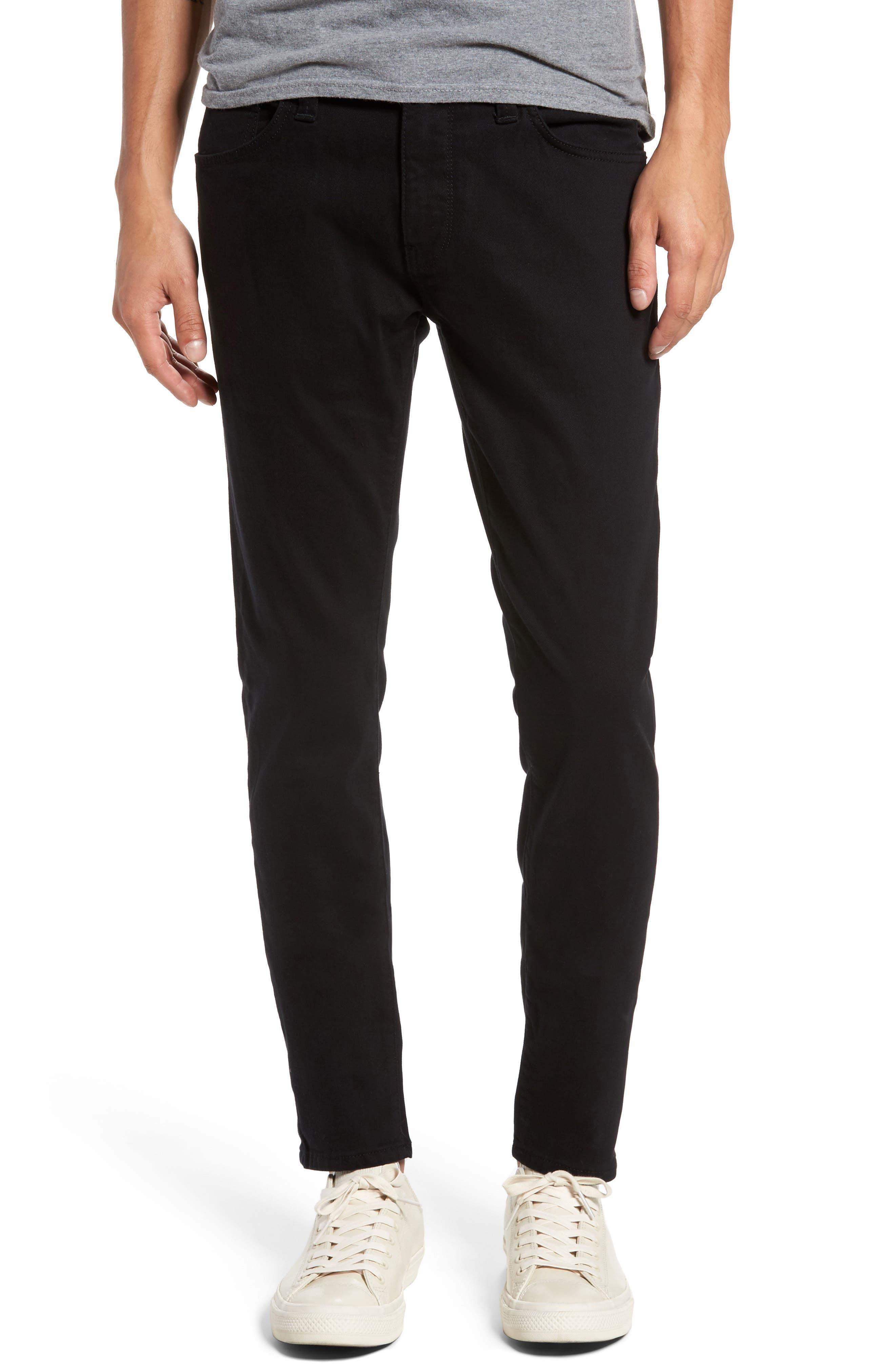 Mavi Jeans James Skinny Fit Jeans (Black Brooklyn)