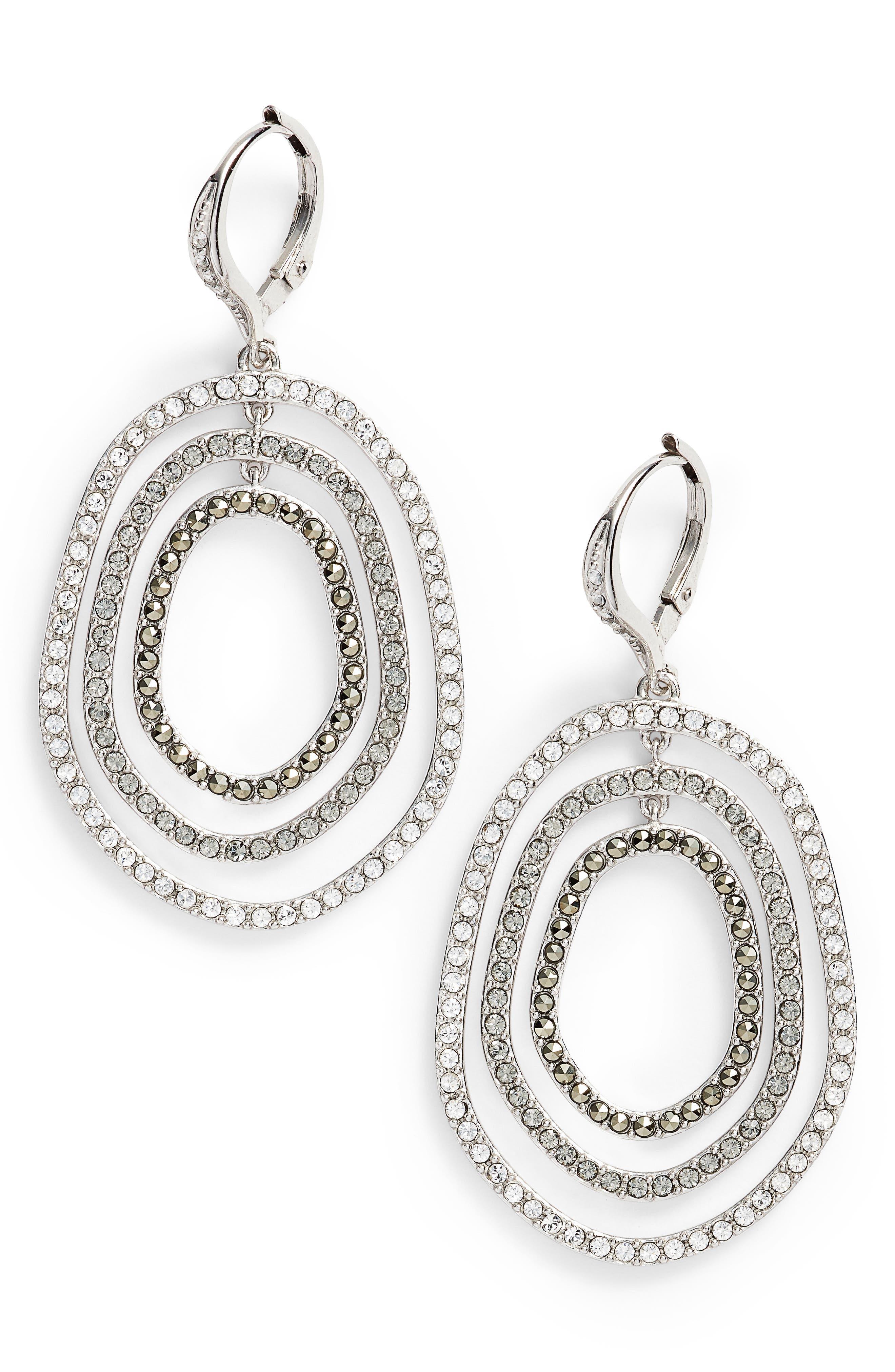 Judith Jack Orbital Crystal Drop Earrings