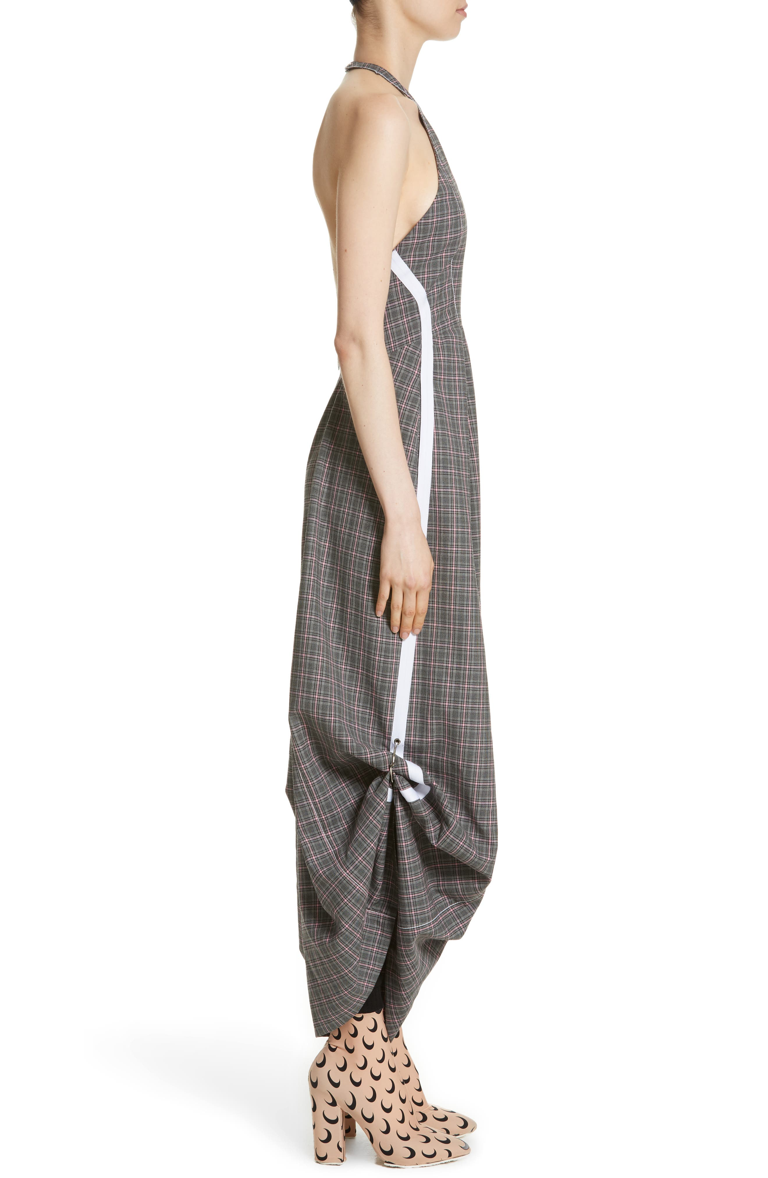 Wool Jumpsuit,                             Alternate thumbnail 3, color,                             Grey Pink