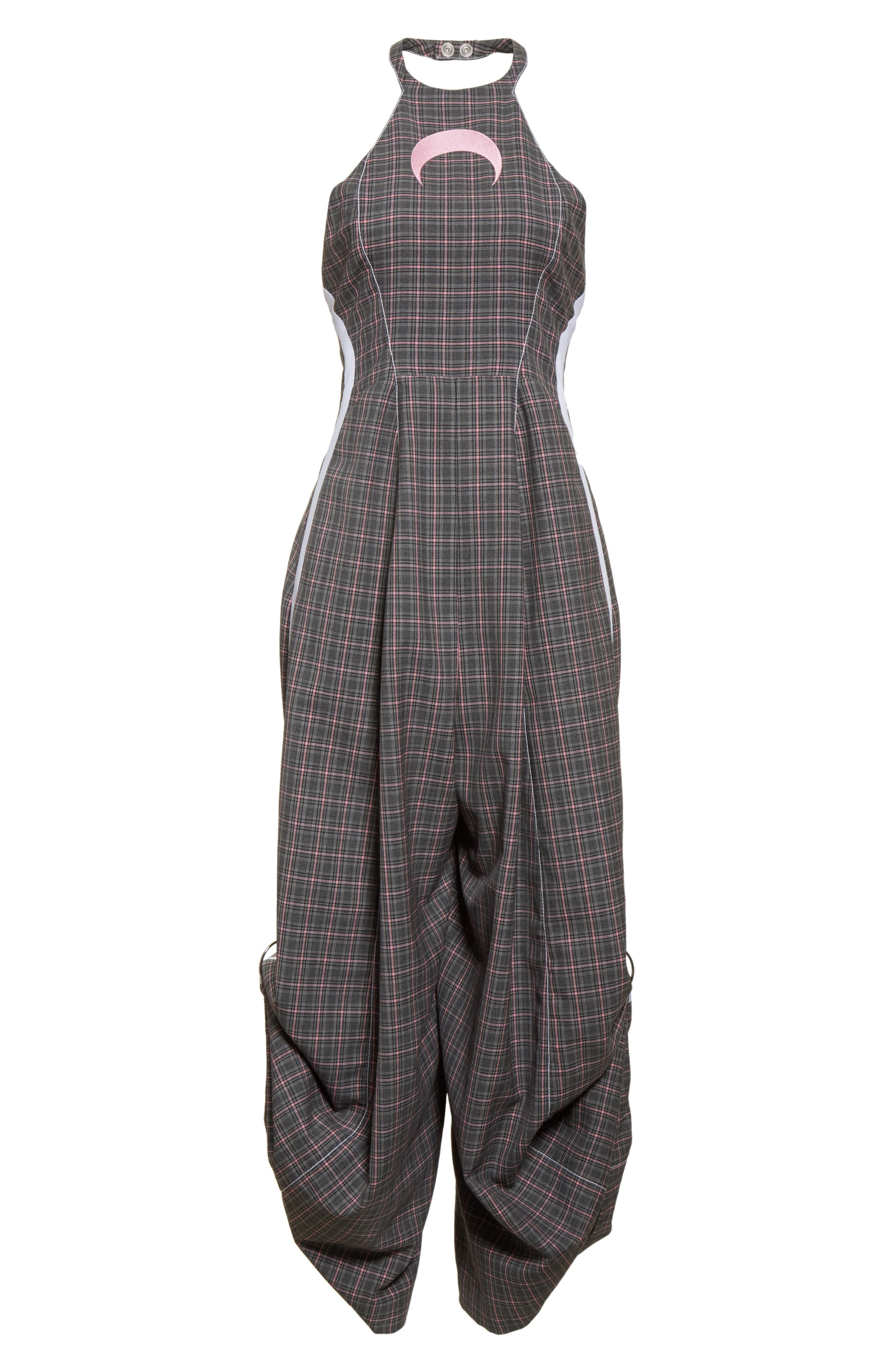 Wool Jumpsuit,                             Alternate thumbnail 7, color,                             Grey Pink