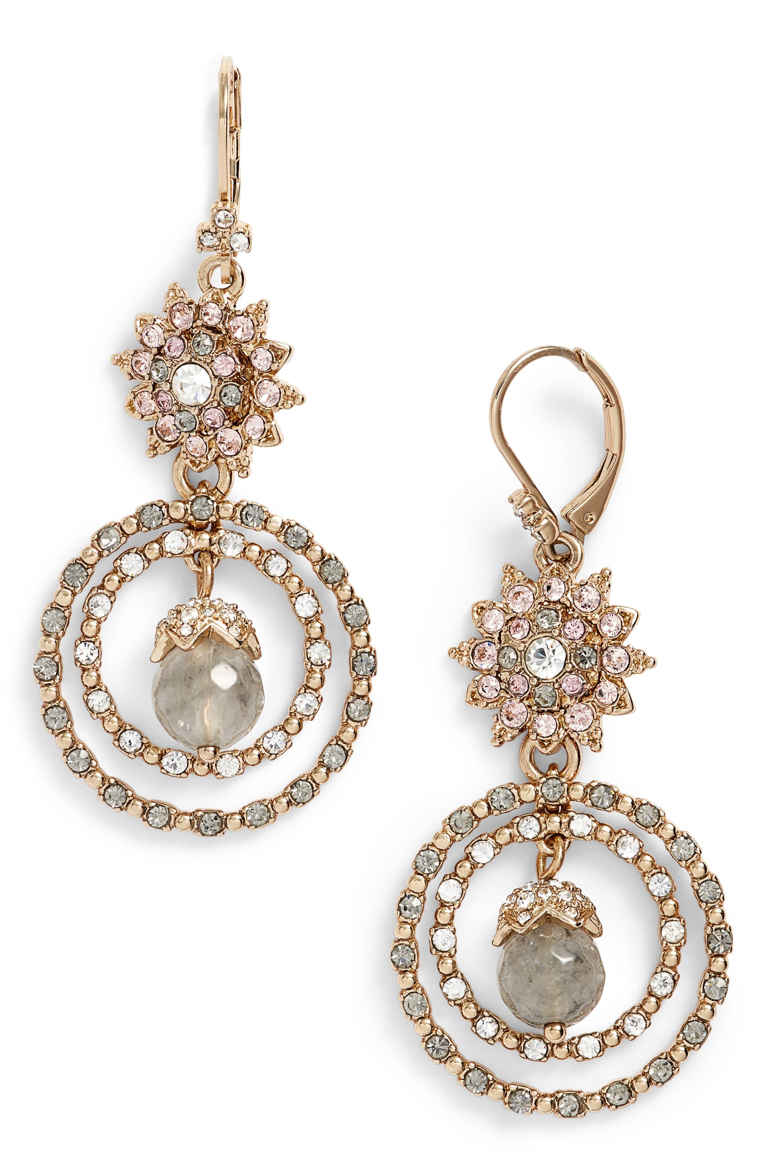 Marchesa Orbital Crystal Drop Earrings
