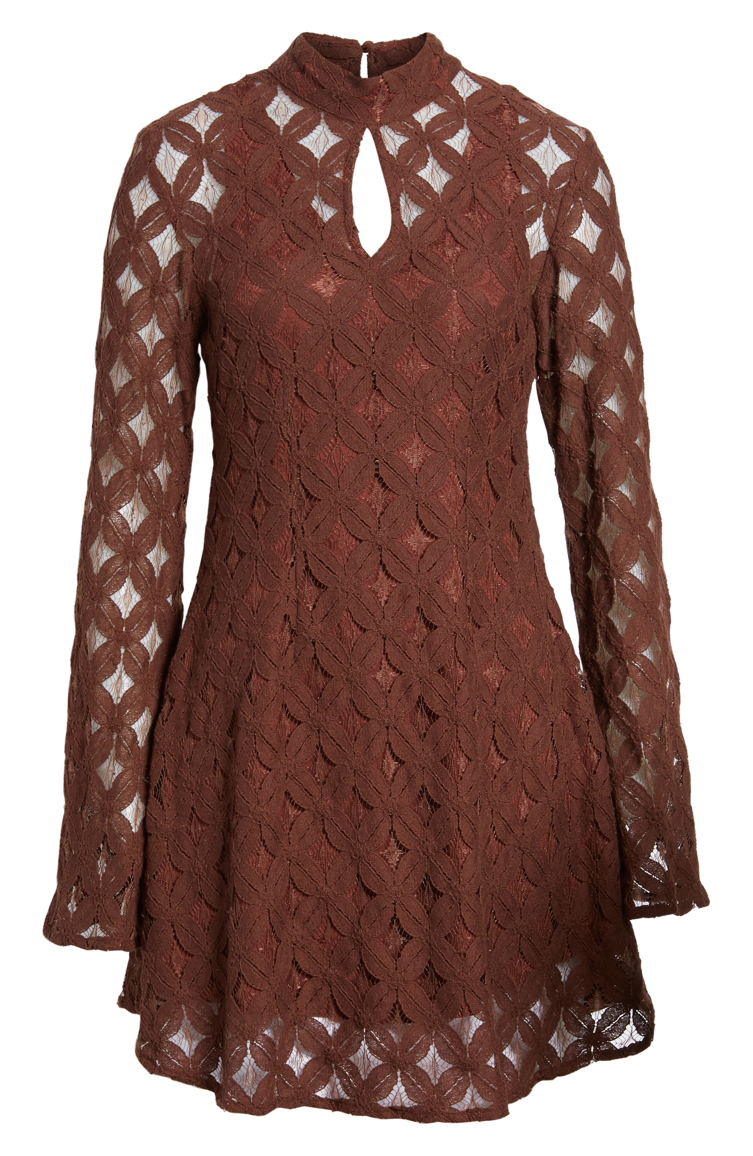 Alternate Image 8  - Somedays Lovin Crimson Hearts Lace Dress