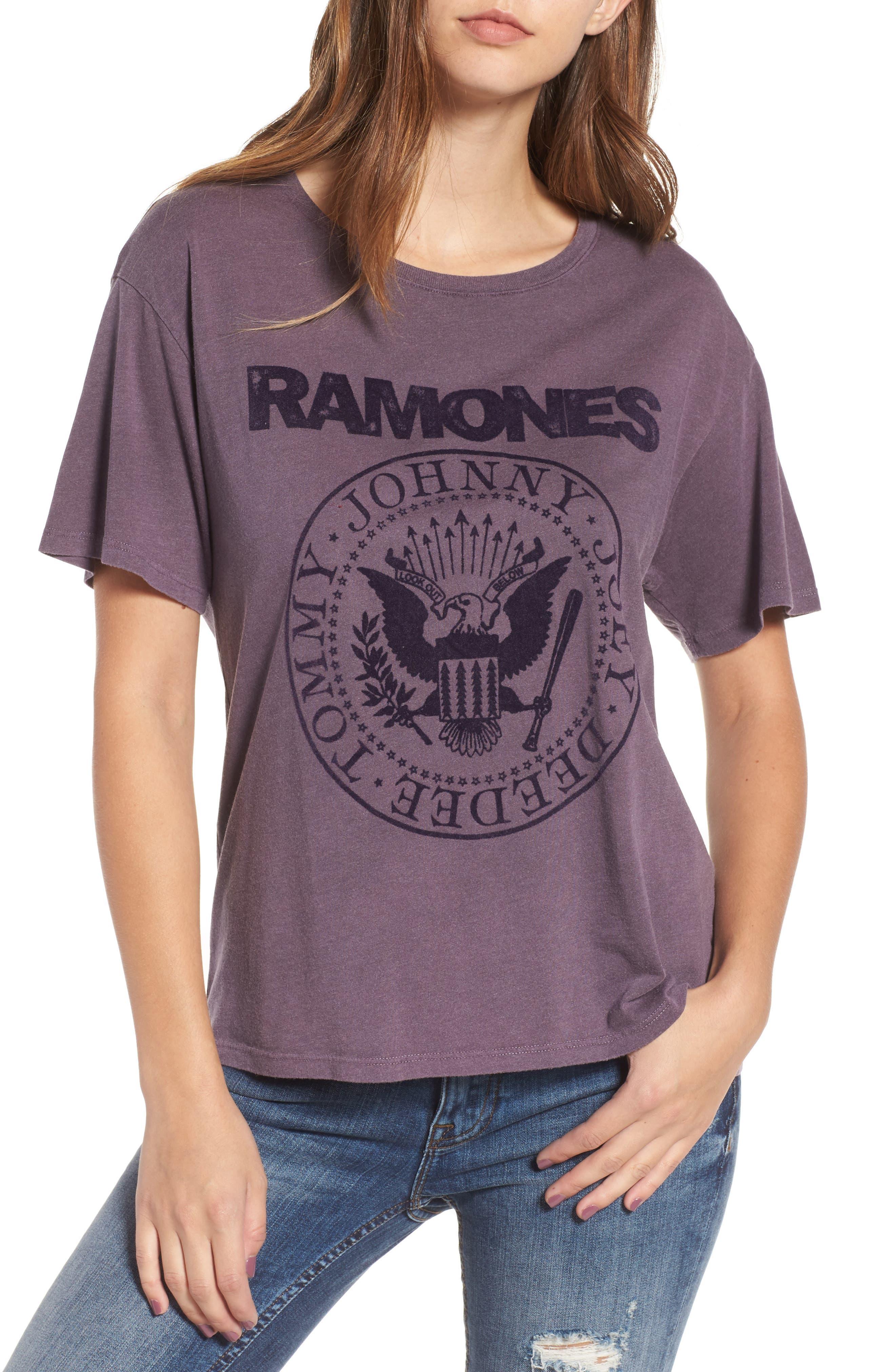 Ramones Tee,                         Main,                         color, Plum