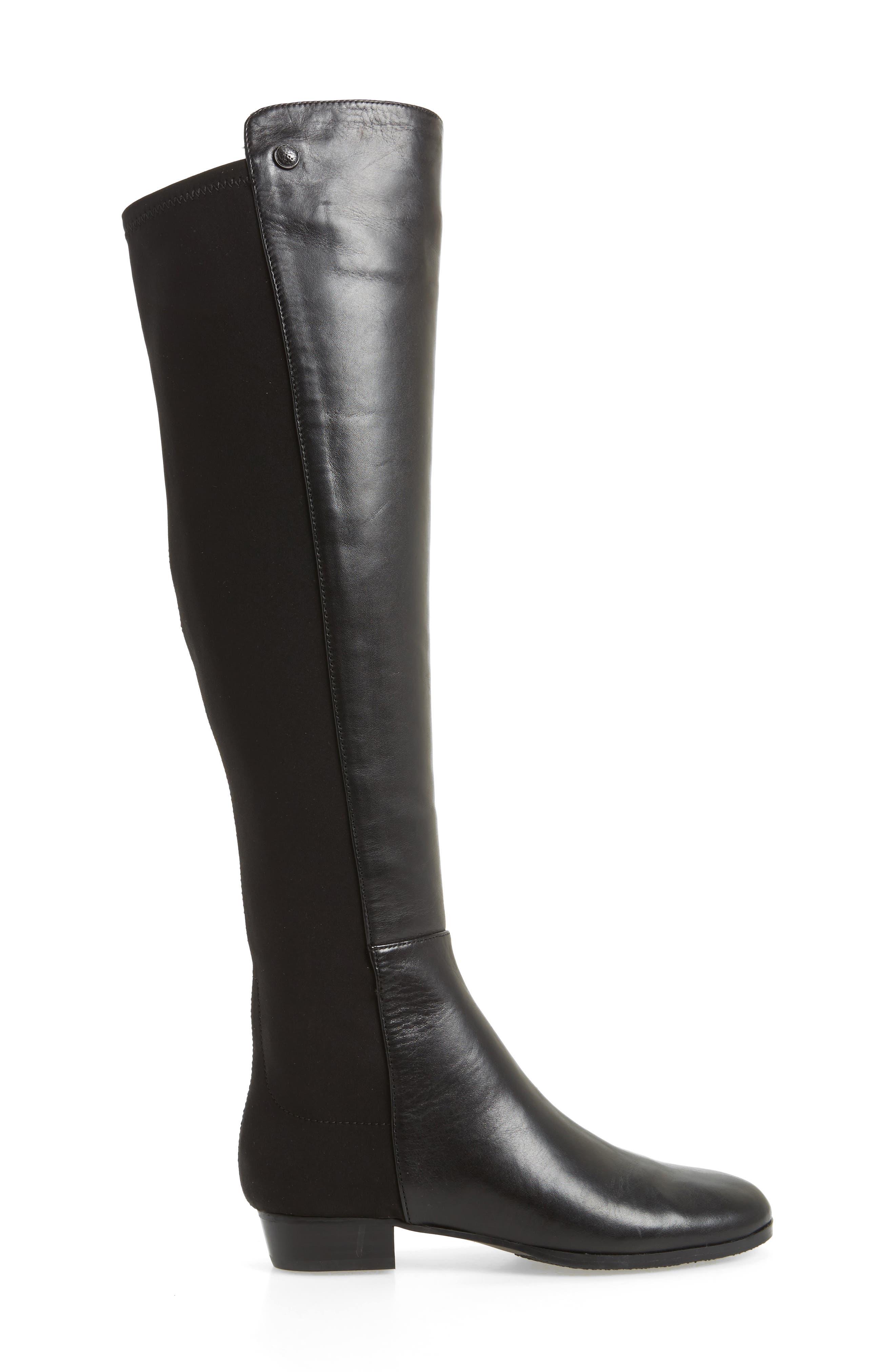 'Karita' Over the Knee Boot,                             Alternate thumbnail 3, color,                             Black/ Black