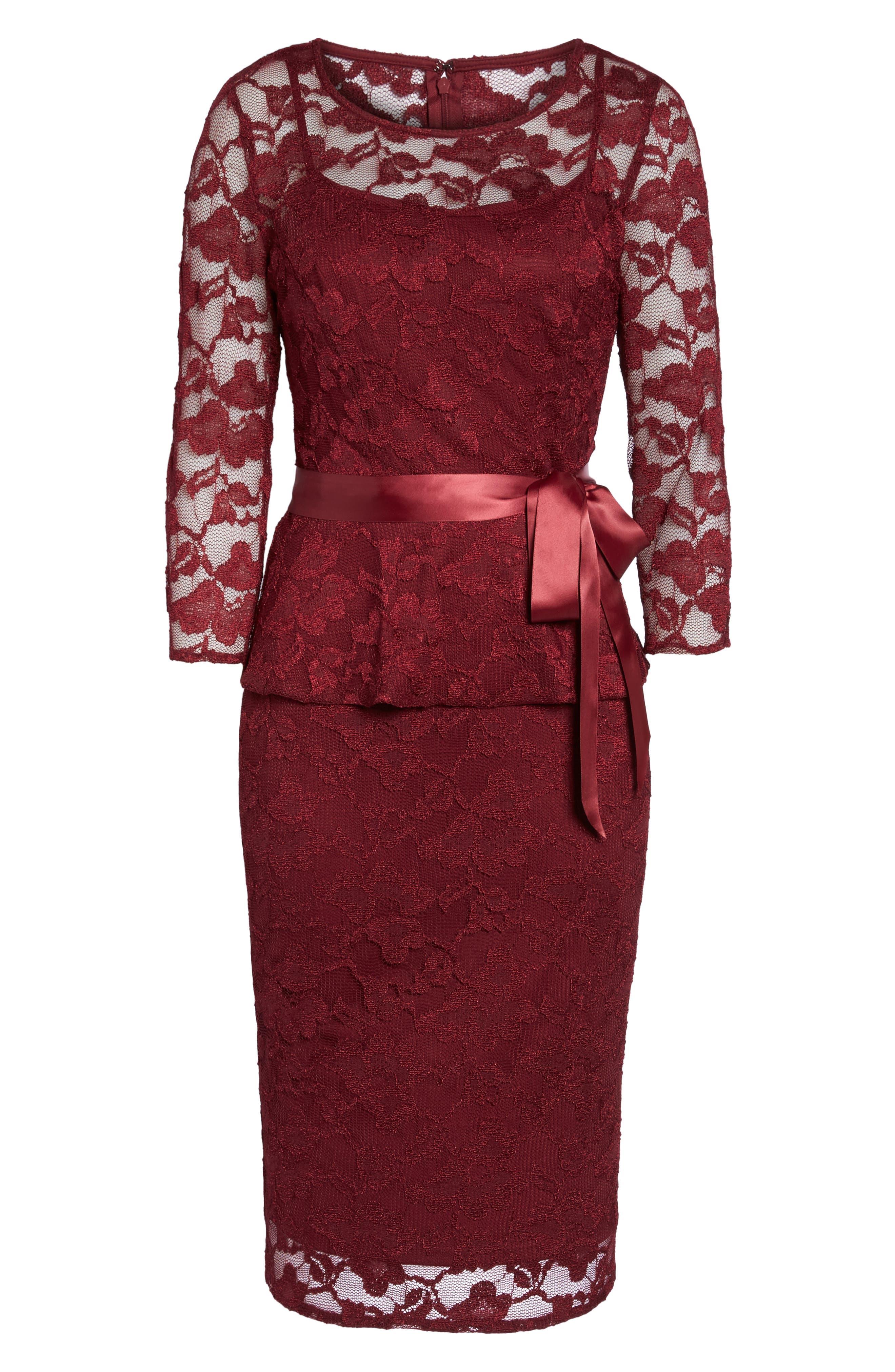 Alternate Image 6  - Chetta B Lace Sheath Dress