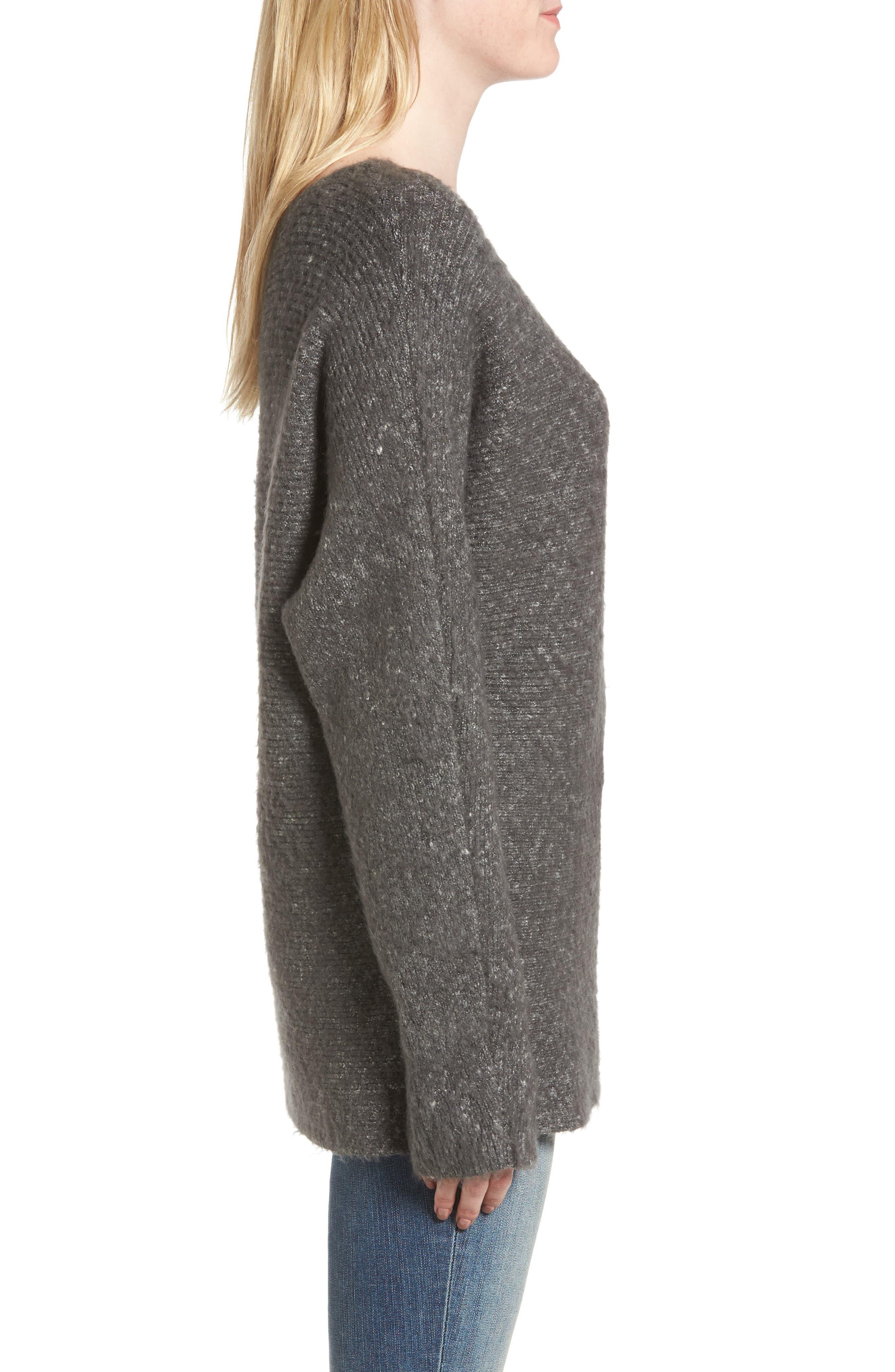 Alternate Image 3  - Treasure & Bond One-Shoulder Ribbed Sweater