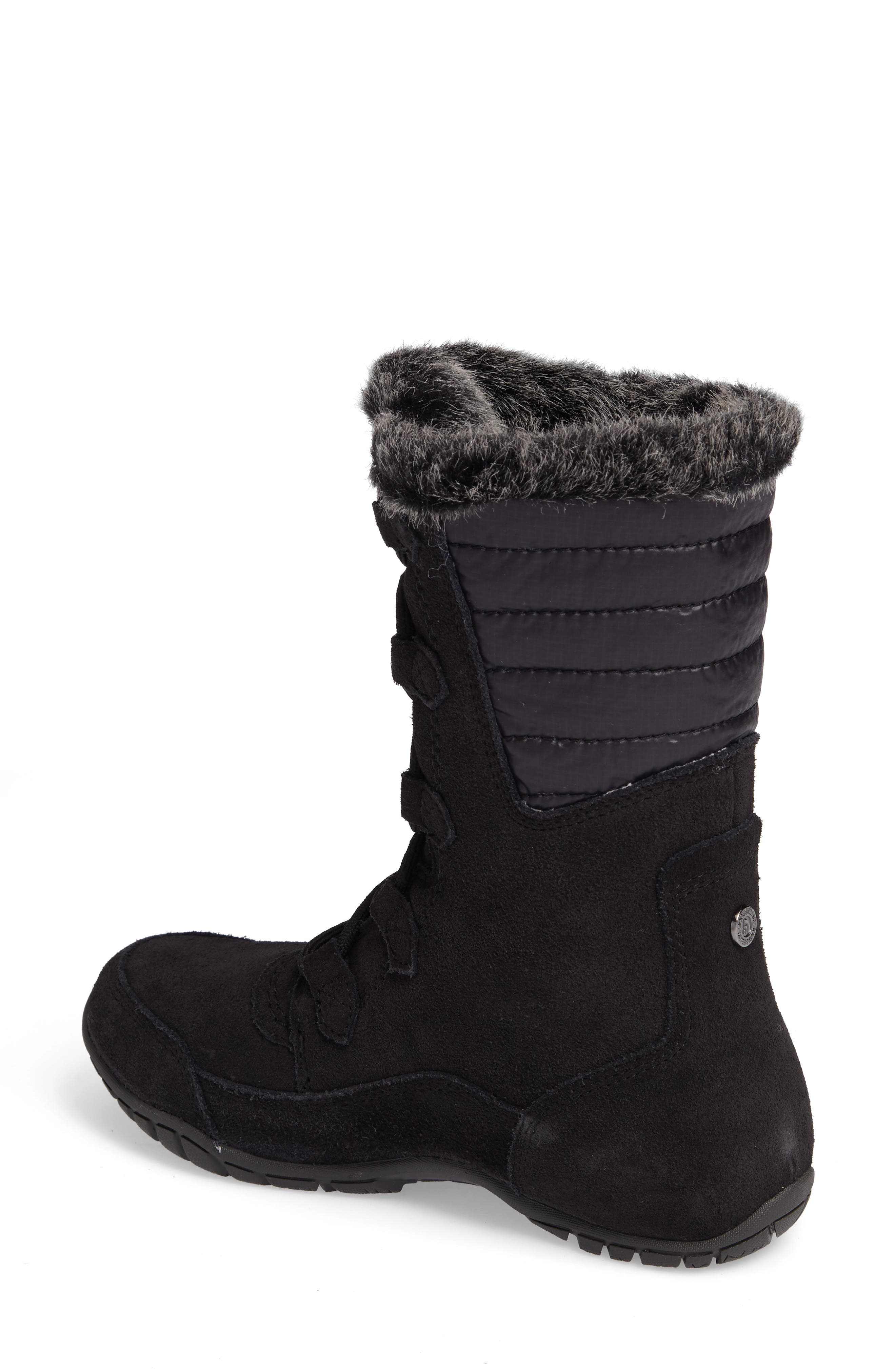 Nuptse Purna II Waterproof PrimaLoft<sup>®</sup> Silver Eco Insulated Winter Boot,                             Alternate thumbnail 2, color,                             Tnf Black/ Beluga Grey