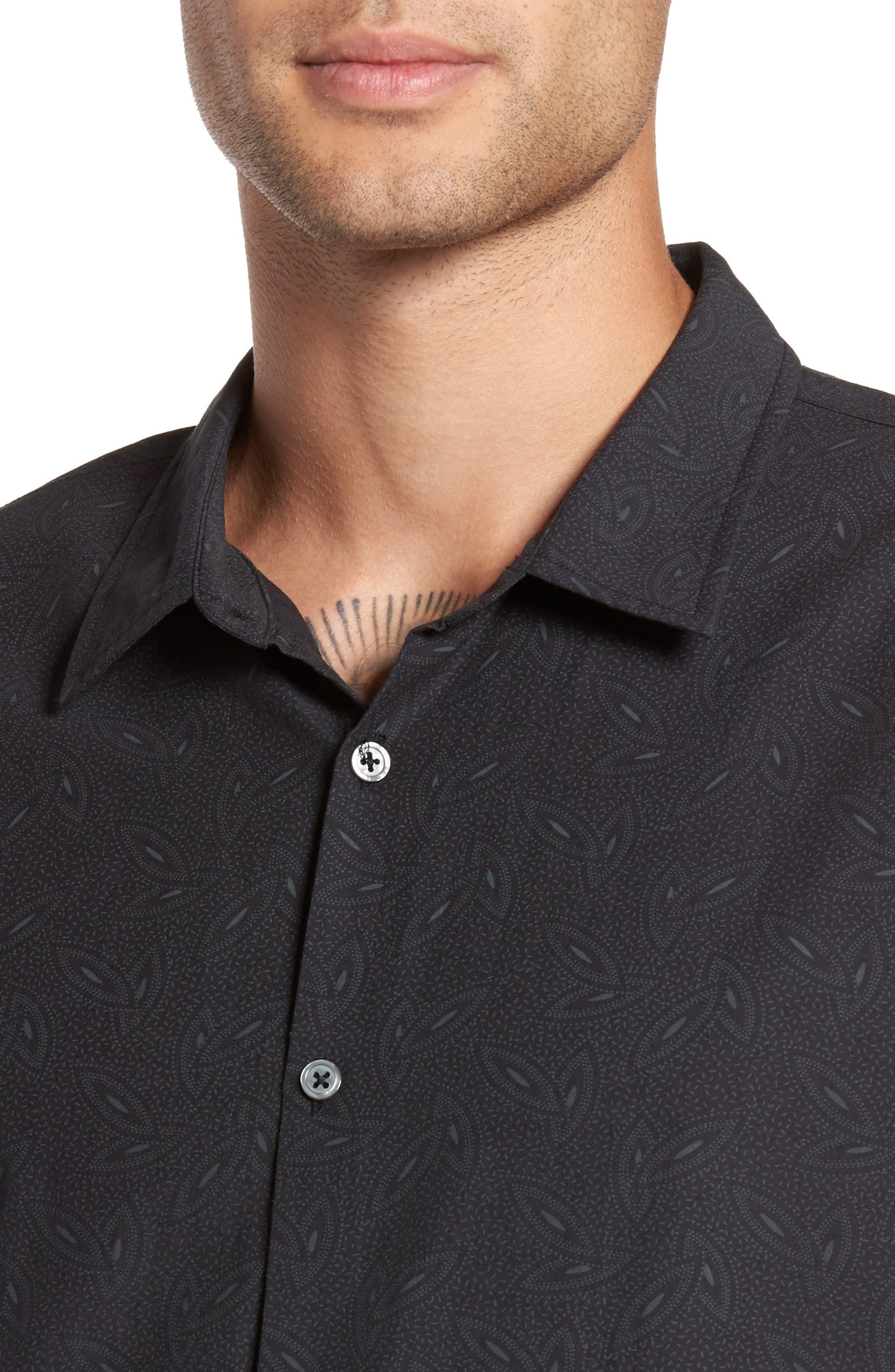 Mayfield Slim Fit Short Sleeve Sport Shirt,                             Alternate thumbnail 2, color,                             Midnight