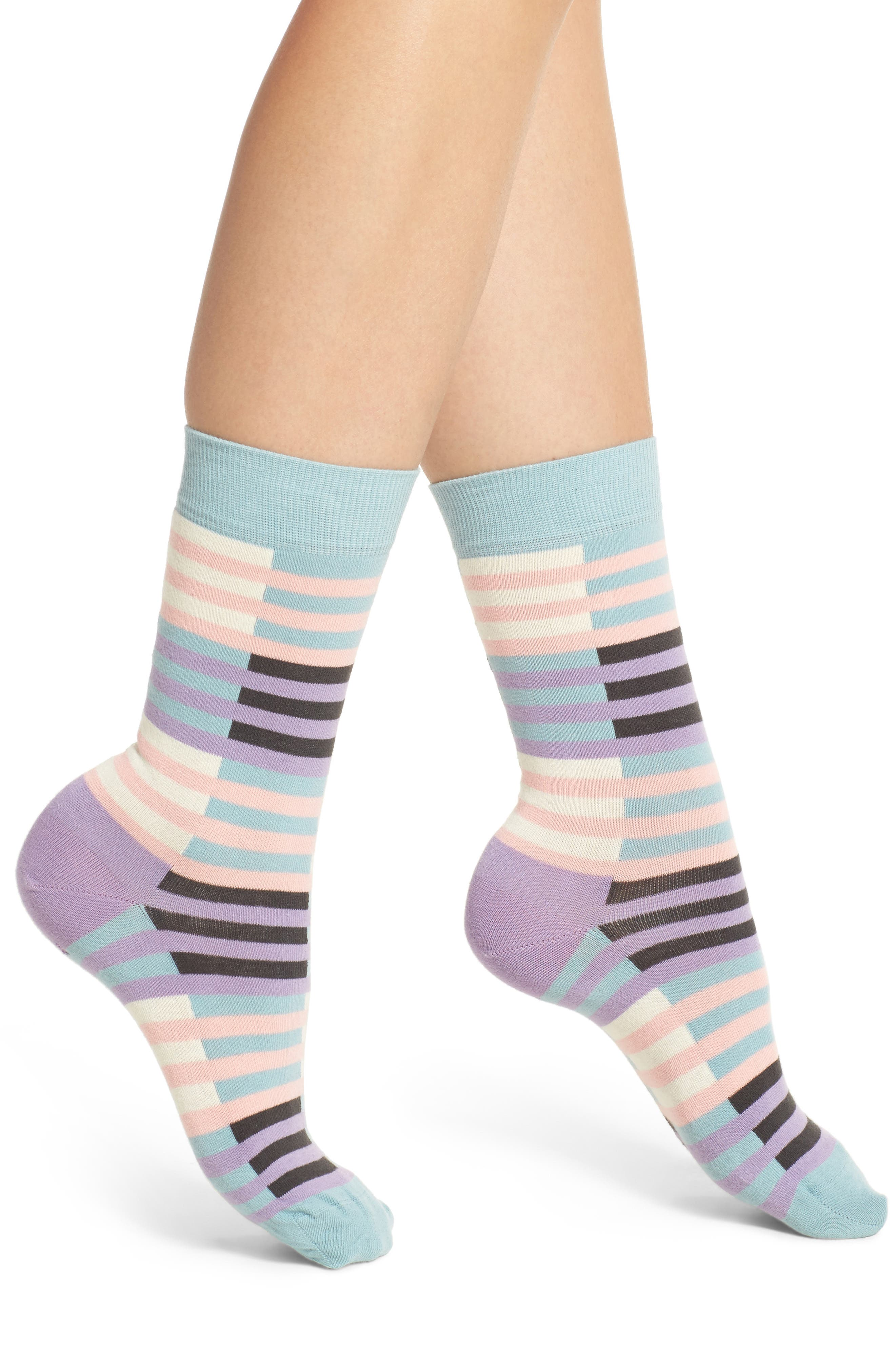 Happy Socks Checks & Stripes Crew Socks (3 for $24.00)