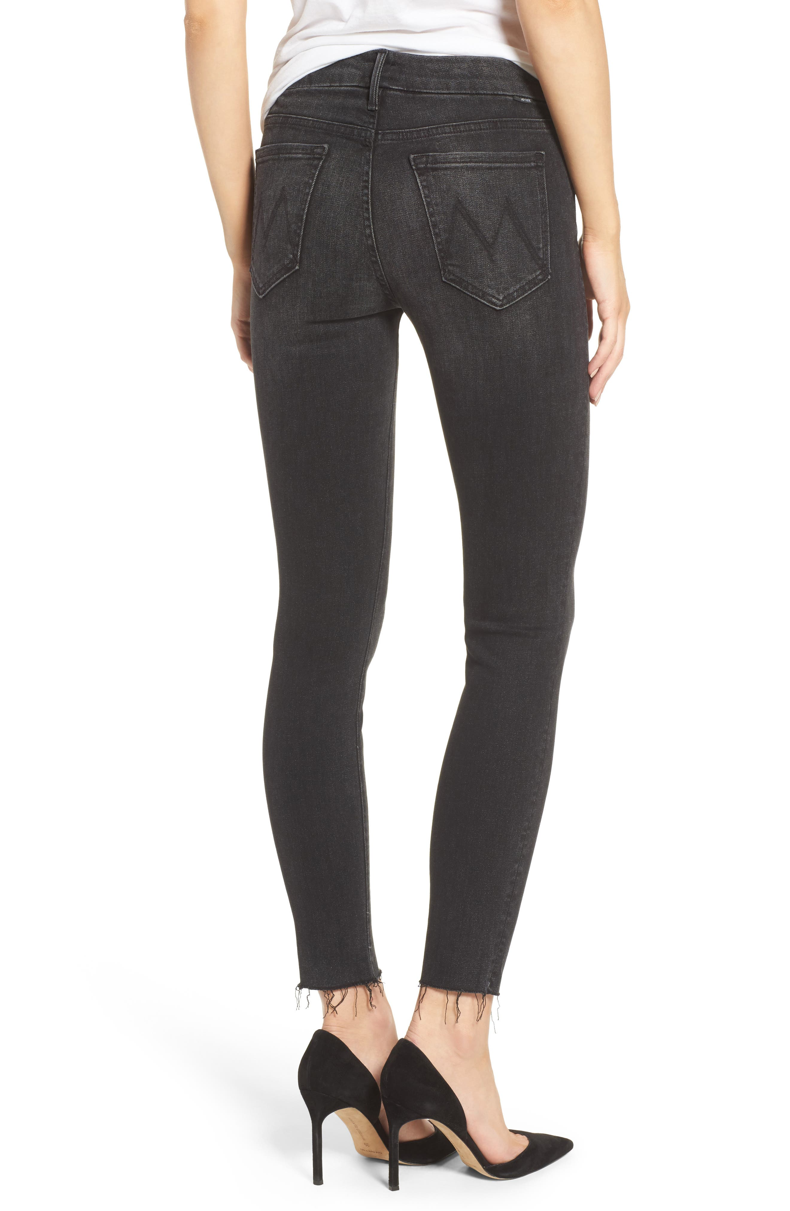 The Looker Frayed Ankle Jeans,                             Alternate thumbnail 2, color,                             Night Hawk