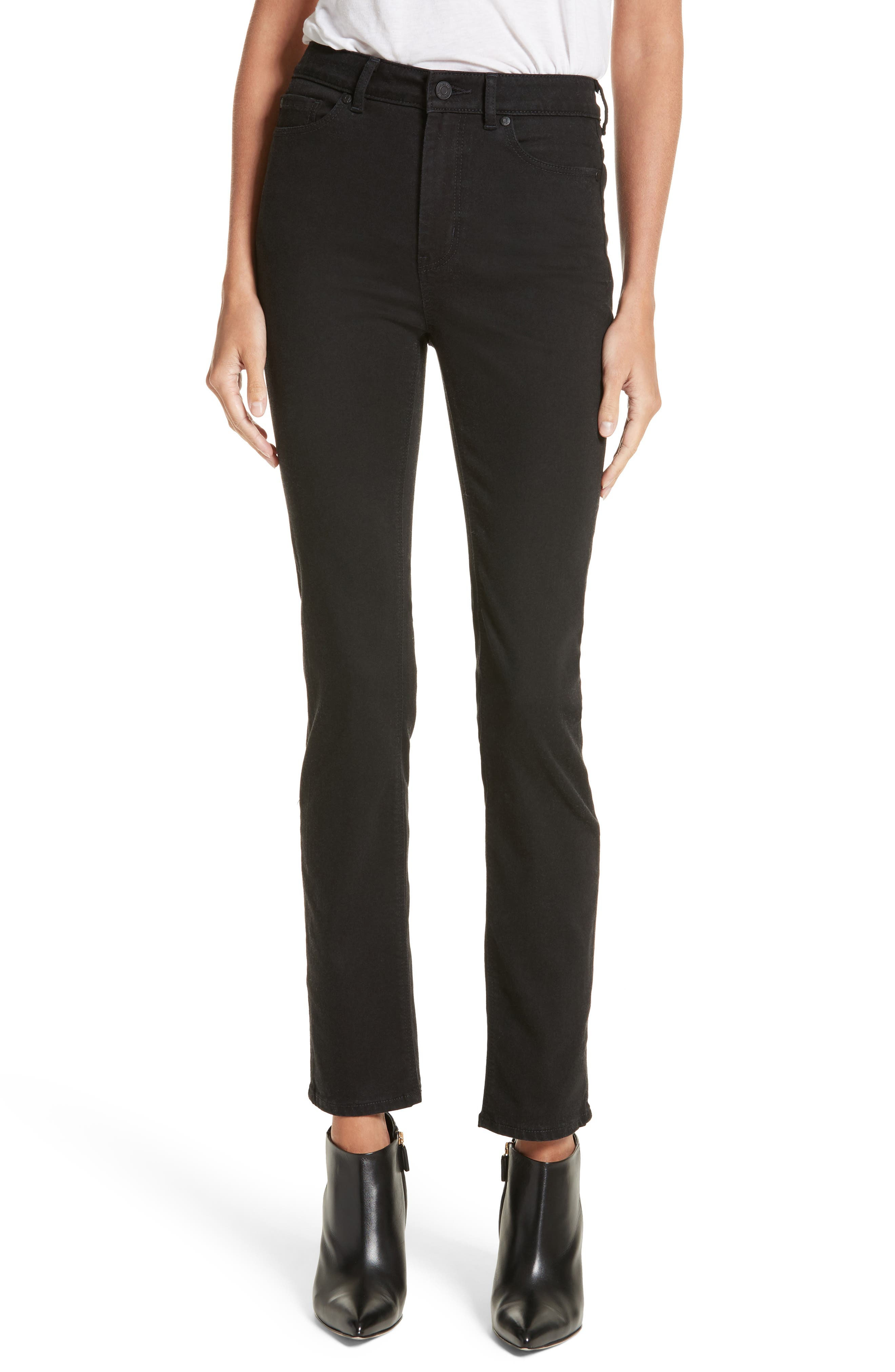 Clemence Skinny Pants,                         Main,                         color, Coal Wash