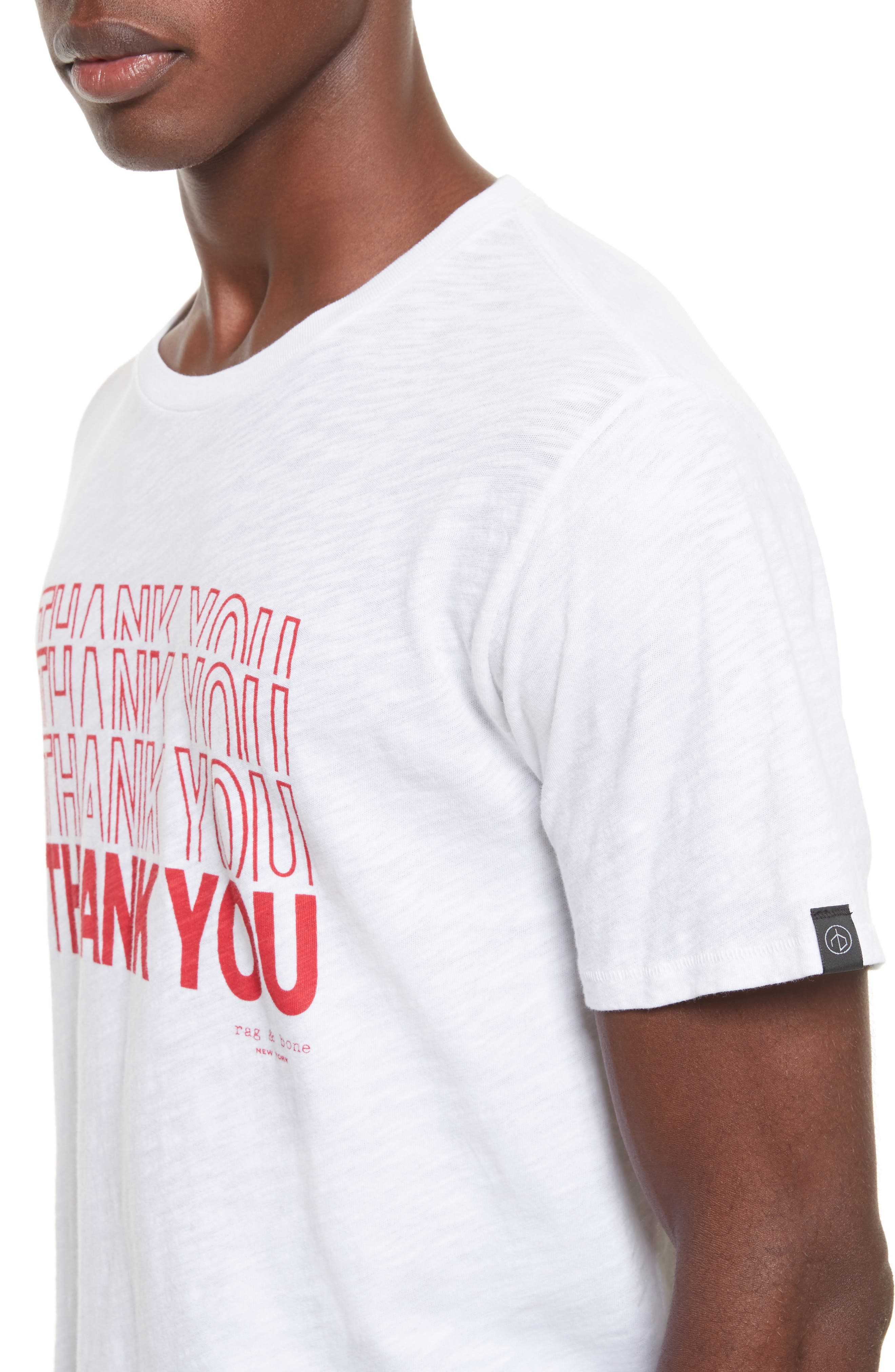 Thank You Graphic T-Shirt,                             Alternate thumbnail 4, color,                             White