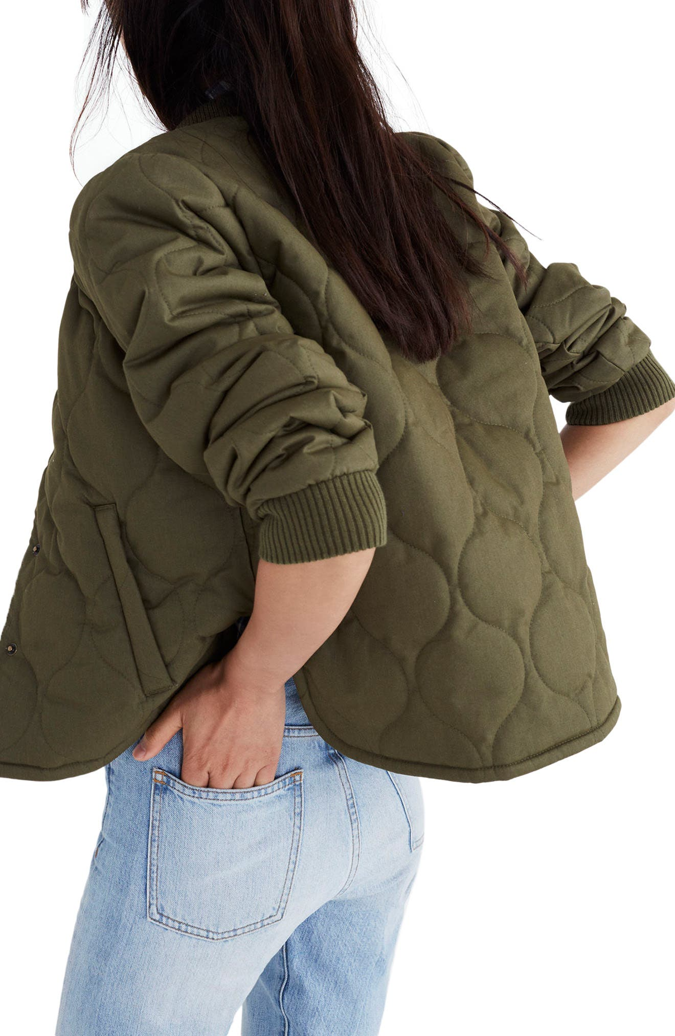 Alternate Image 2  - Madewell Quilted Military Jacket