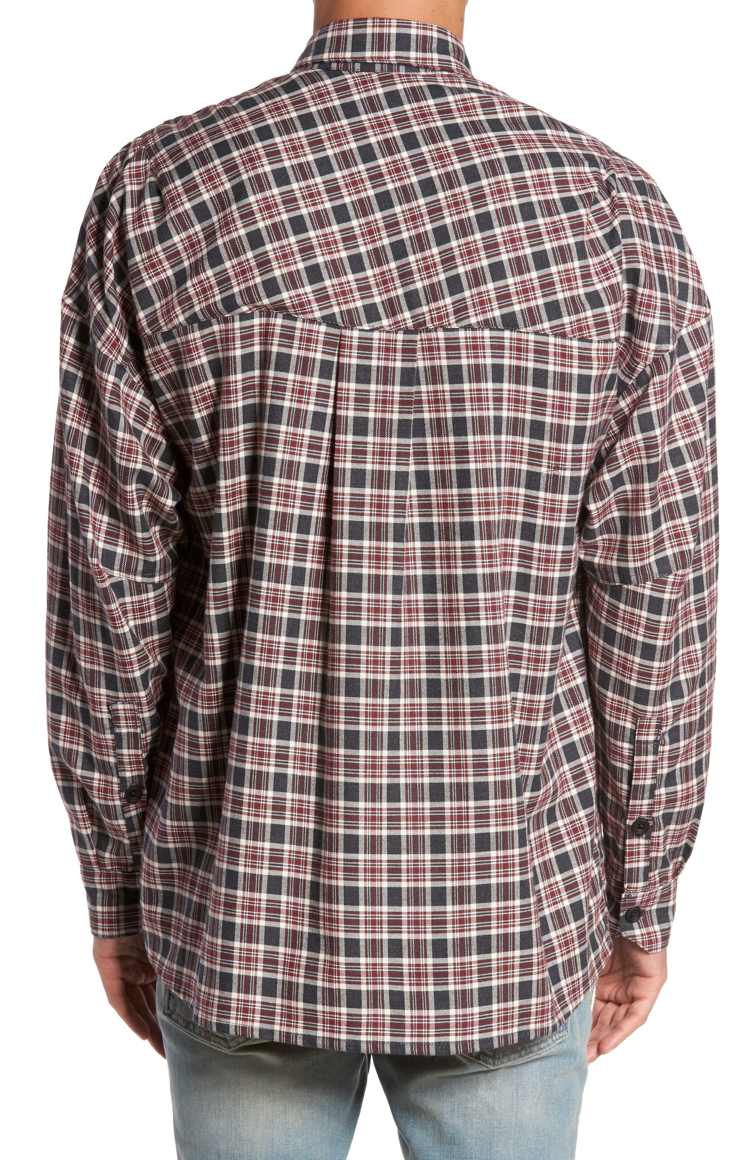 Standard Fit Plaid Sport Shirt,                             Alternate thumbnail 2, color,                             Huckleberry