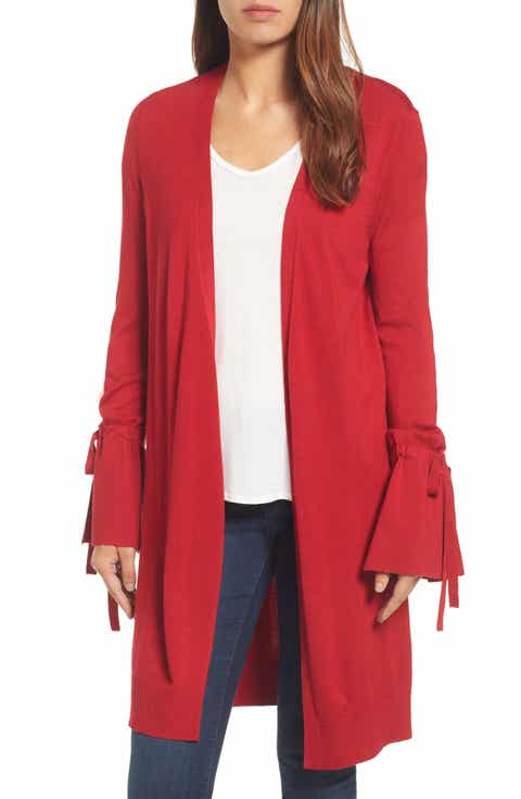 Women's Red V-Neck Sweaters | Nordstrom